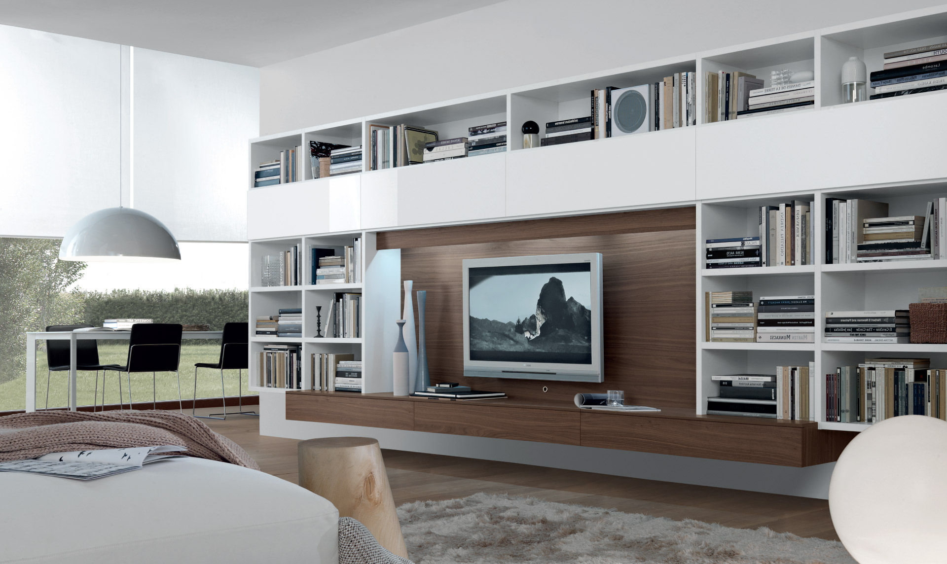 Contemporary Tv Wall Unit – Open System – Jesse Regarding Trendy Contemporary Tv Wall Units (View 7 of 20)