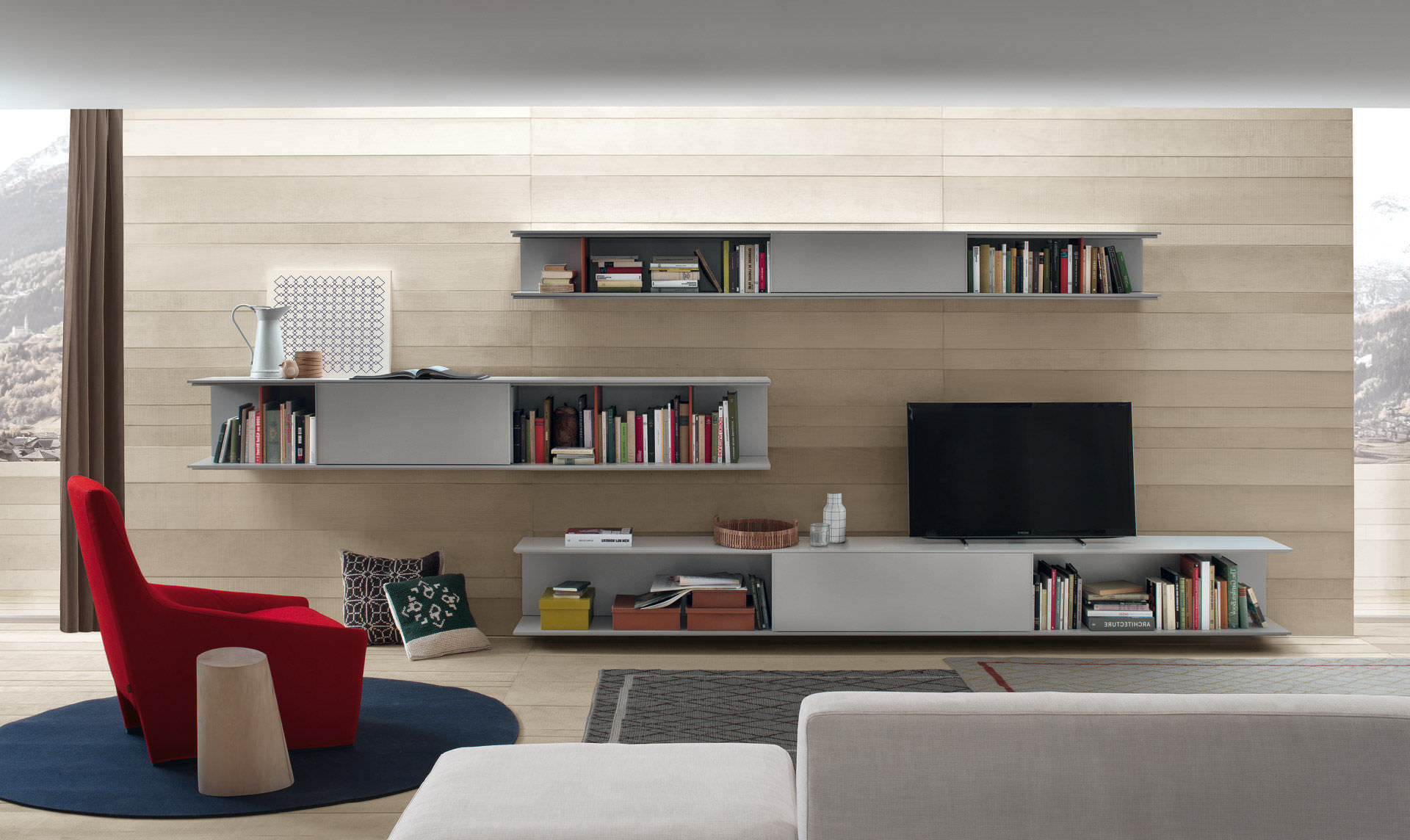 Contemporary Tv Wall Unit / Wooden – Onlinedecoma Design – Jesse Pertaining To Most Current Contemporary Tv Wall Units (Gallery 8 of 20)