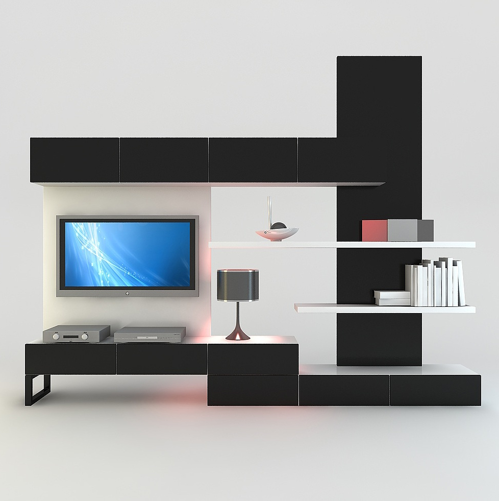 Contemporary Tv Wall Units In Most Recent Living Room With Minimalist Modern Wall Units Fits The White Elegant (View 18 of 20)