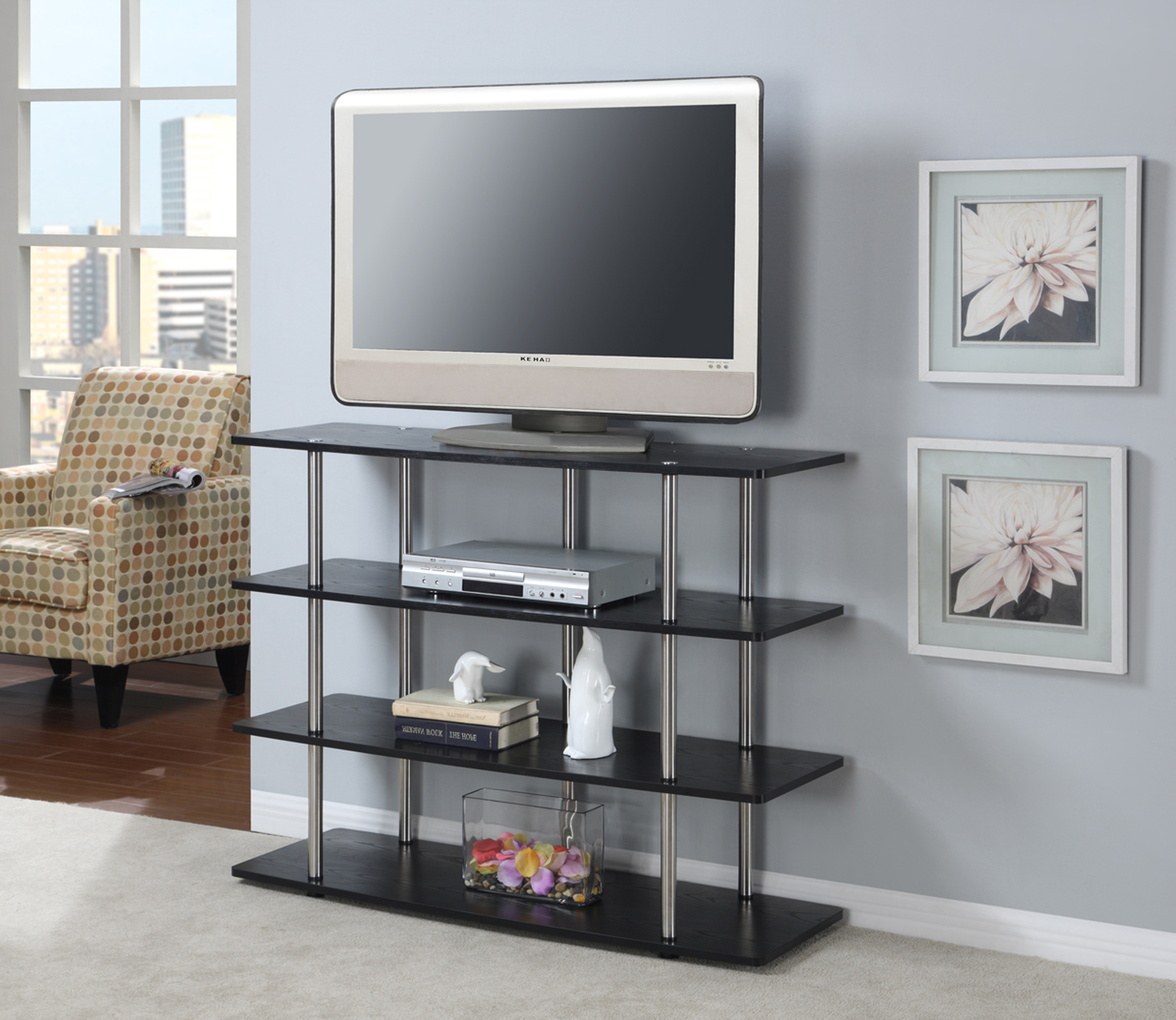 Convenience Concepts Designs2Go Xl Highboy Tv Stand – Walmart For Most Popular Highboy Tv Stands (View 5 of 20)