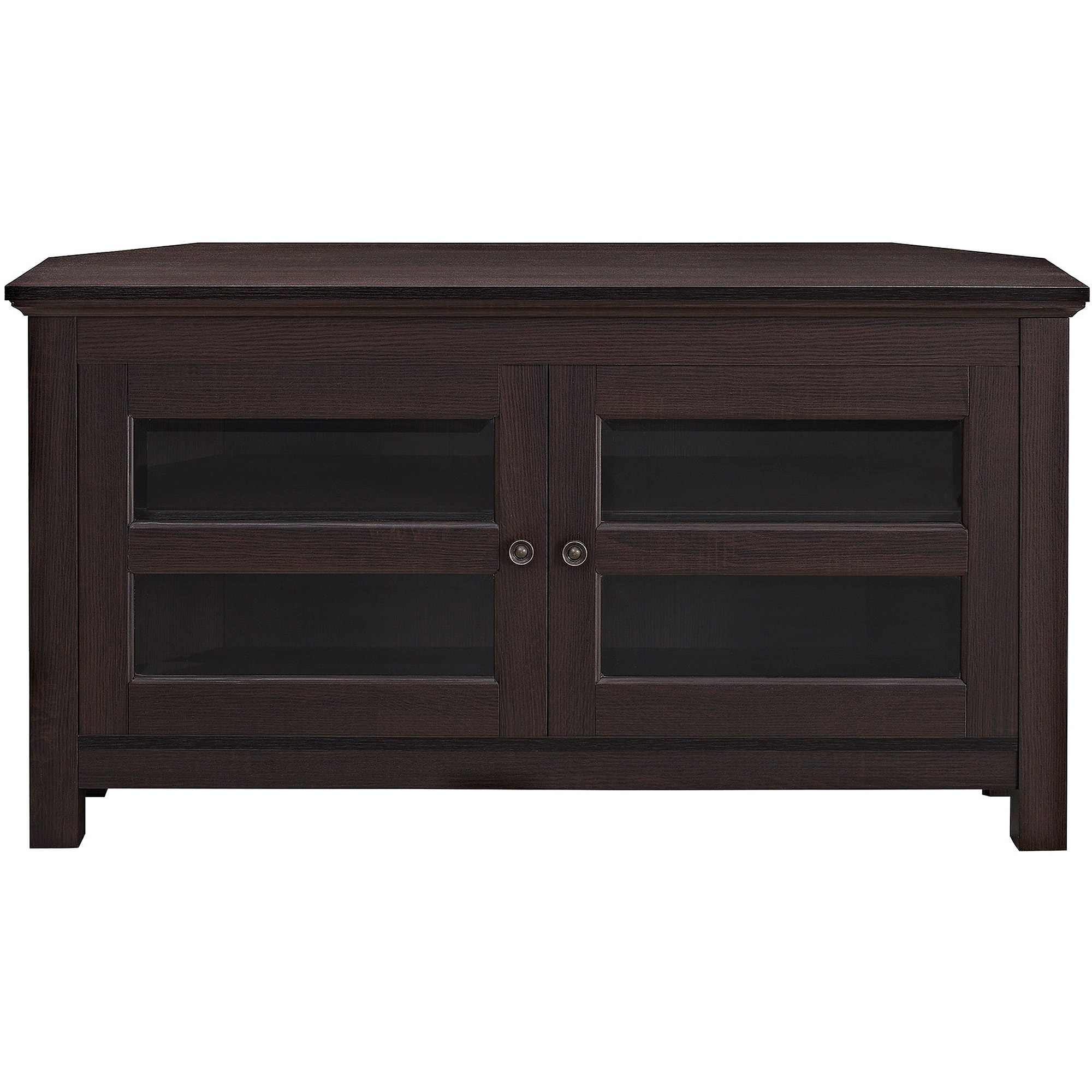 "Cordoba Tv Stands Throughout Most Current We Furniture 44"" Cordoba Corner Tv Stand Console Espresso (View 7 of 20)"
