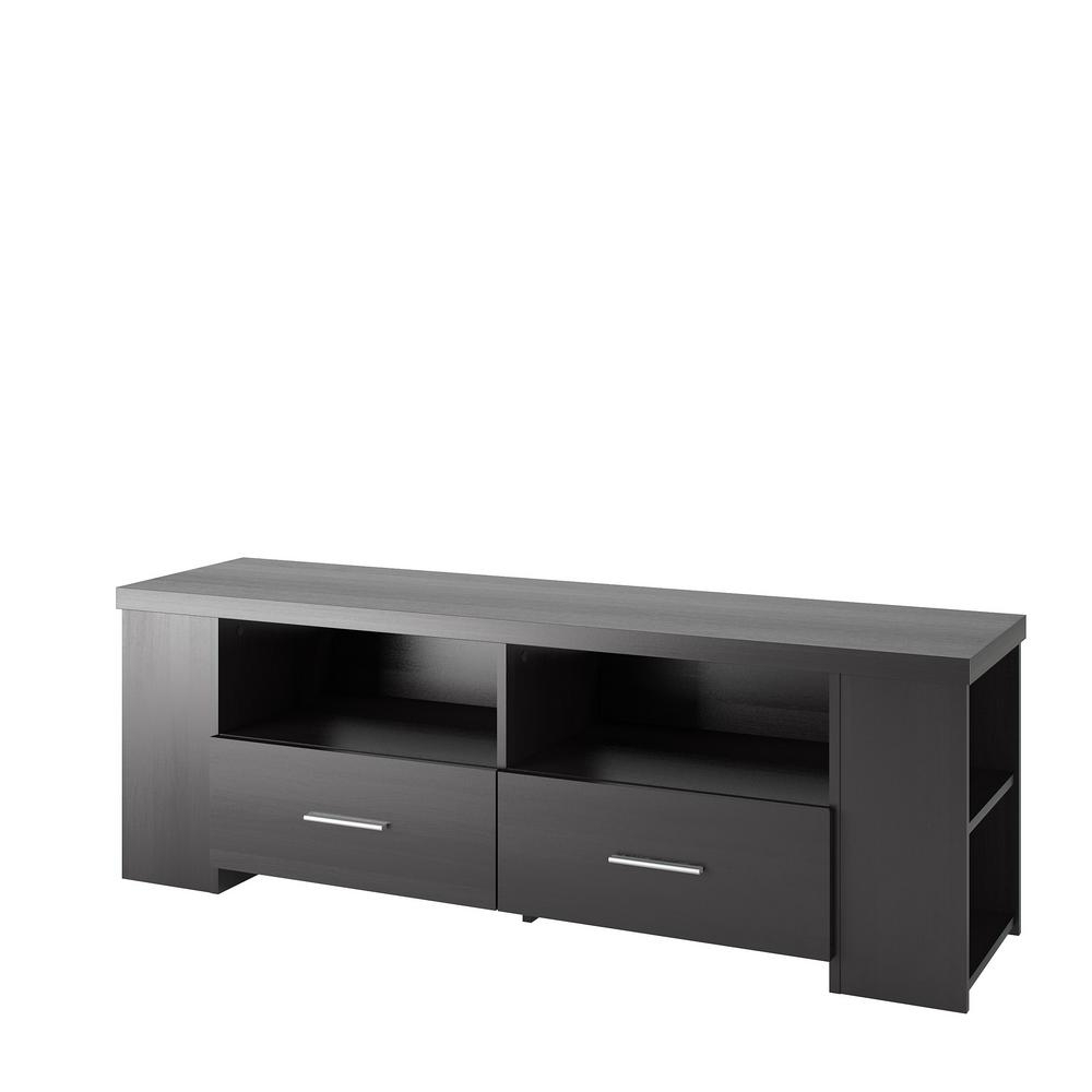 Corliving Bromley Ravenwood Black Tv Bench For Tvs Up To 70 In (View 7 of 20)