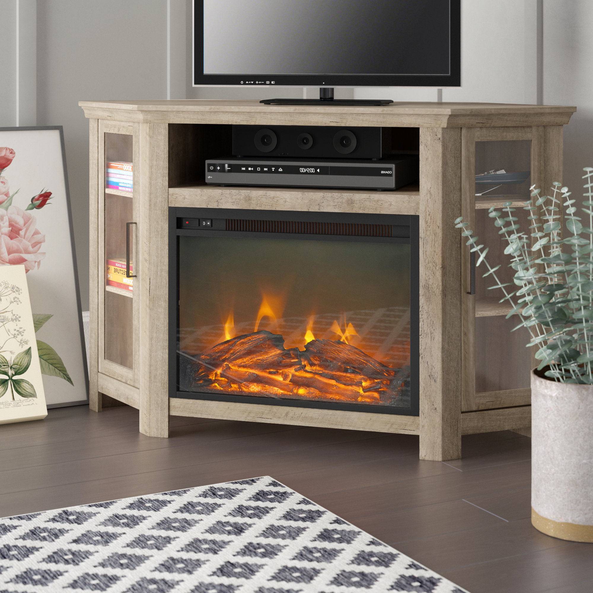 Corner Fireplace Tv Stand (Gallery 14 of 20)