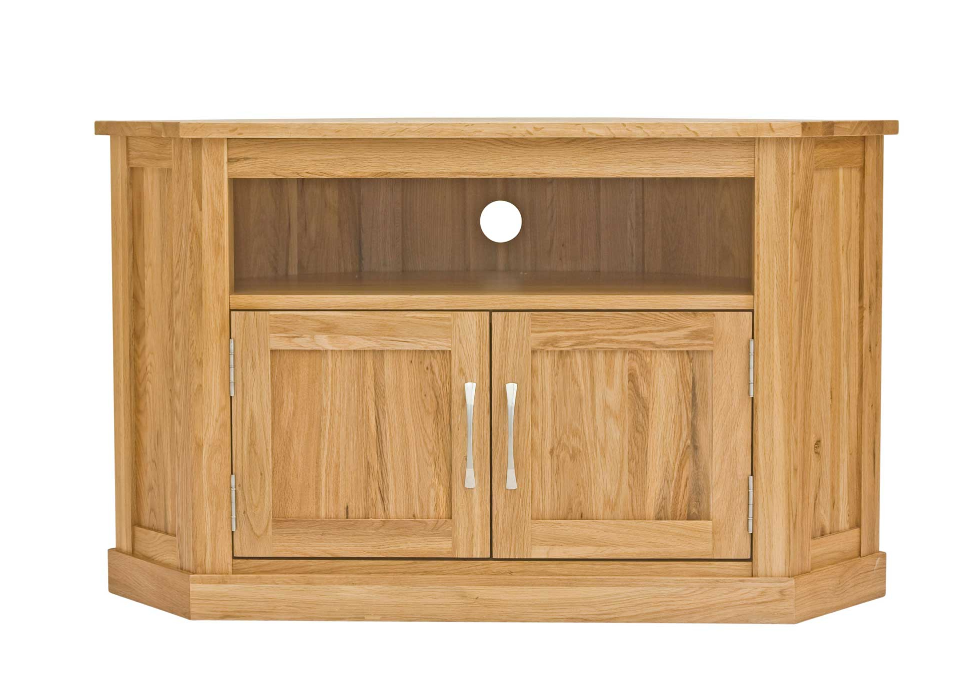 Corner Oak Tv Stands For Flat Screen Inside Most Popular Attractive Corner Tv Cabinet With Door T V Stand U K Furniture C F (View 2 of 20)