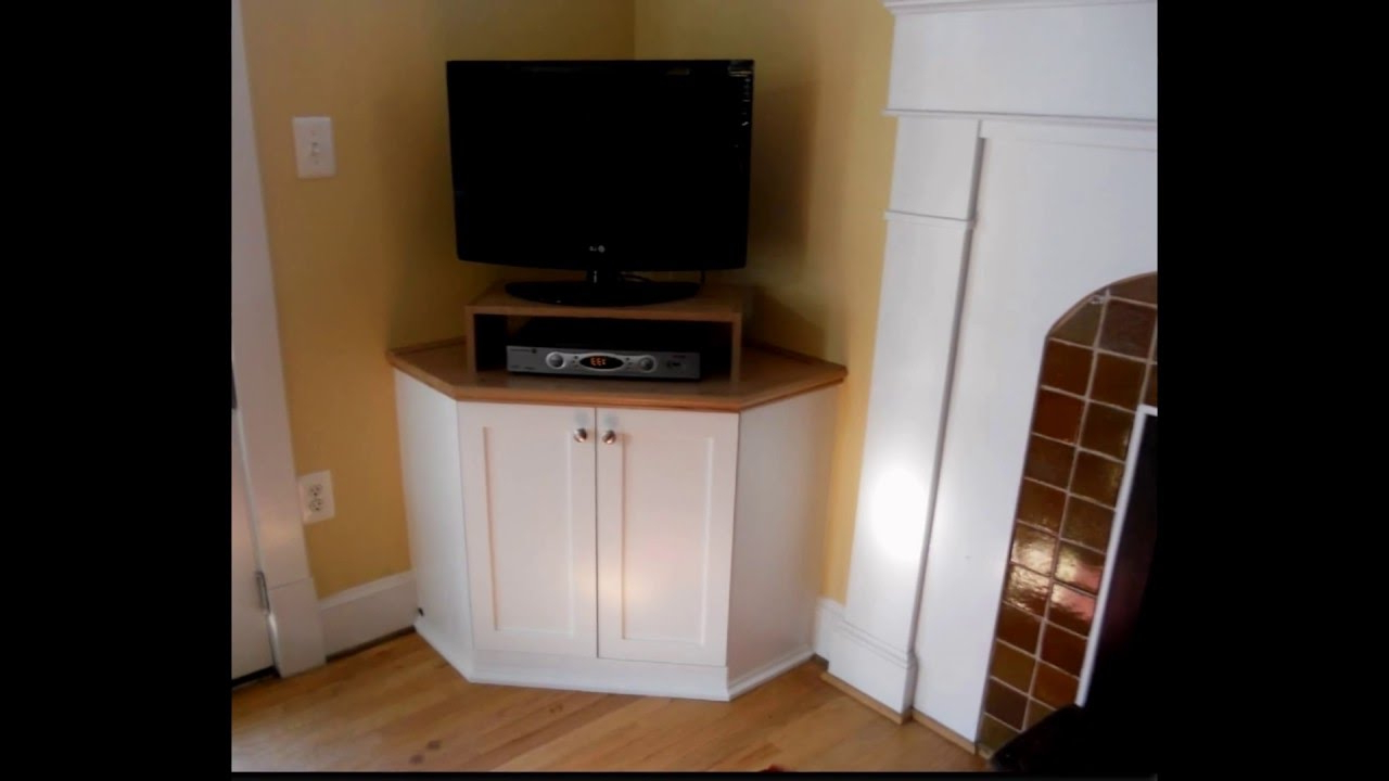 Corner Tv Cabinet – Youtube For Tall Tv Cabinets Corner Unit (Gallery 5 of 20)
