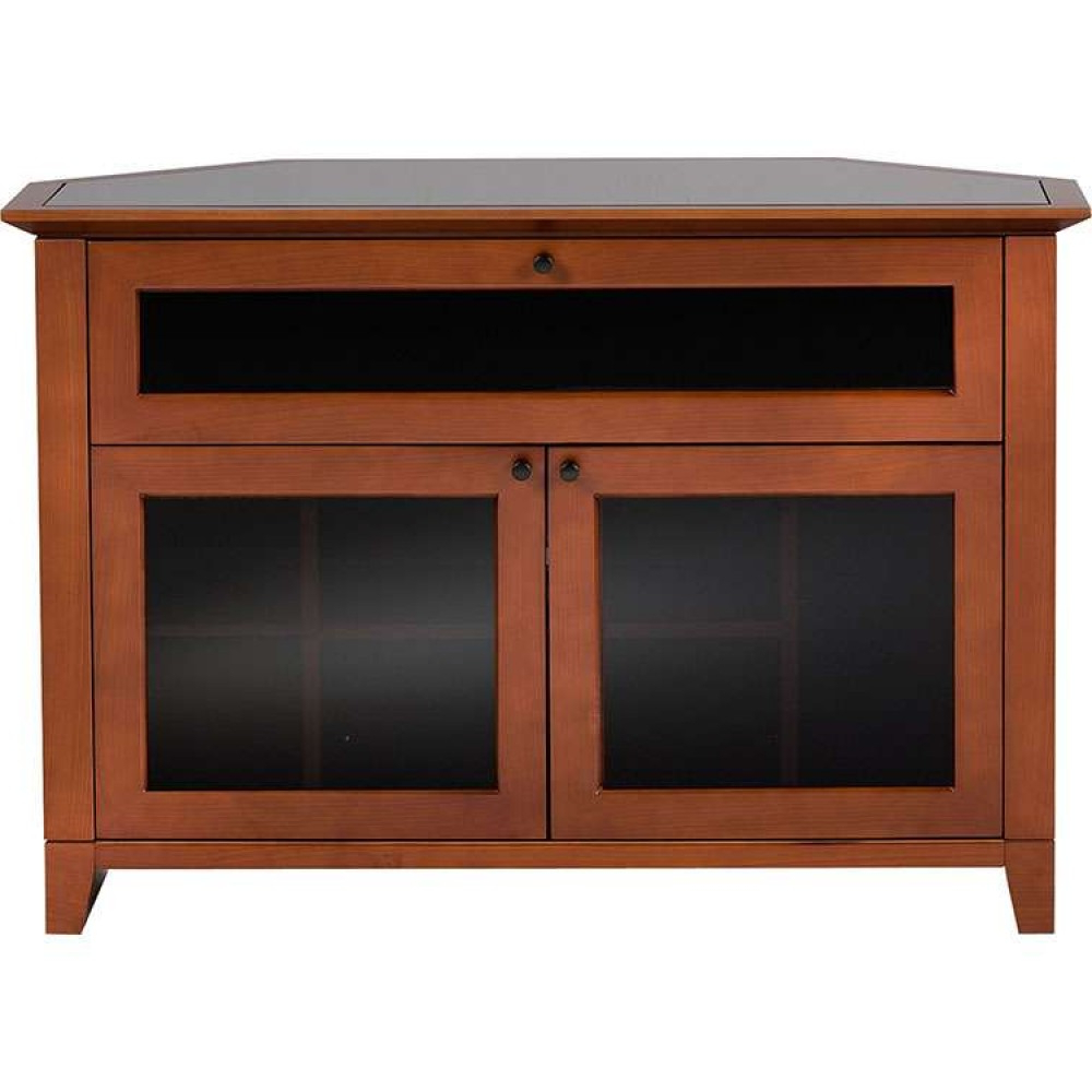 Corner Tv Cabinets With Glass Doors With Latest Solid Dark Flat Screens Platform W/ Glass Doors Shelf (View 7 of 20)