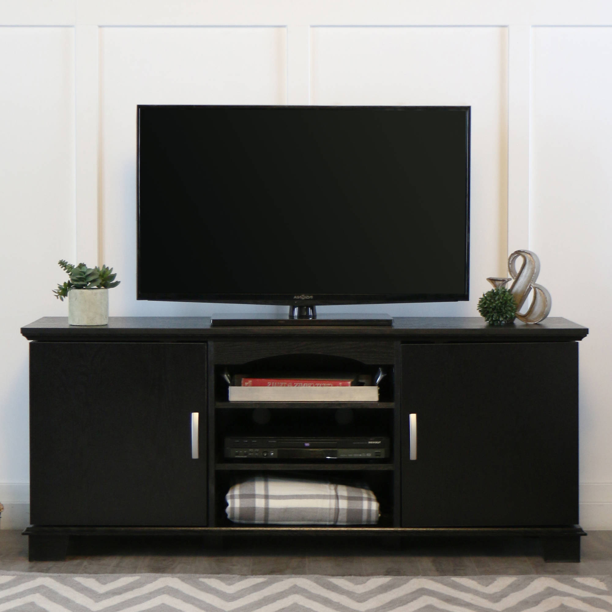 Corner Tv Stand Amazon Unique Stands Extra Tall Entertainment Center Throughout 2018 Black Corner Tv Stands For Tvs Up To  (View 10 of 20)