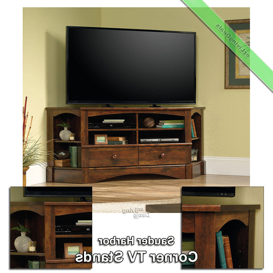 "Corner Tv Stand Wood 60"" Console Table Stands For Flat Screens With Most Up To Date Corner Tv Stands For 60 Inch Flat Screens (View 4 of 20)"