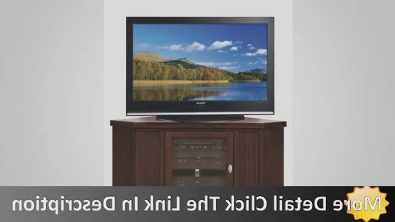Corner Tv Stands For 46 Inch Flat Screen With Recent Leick Riley Holliday Corner Tv Stand, 46 Inch – Youtube (Gallery 18 of 20)