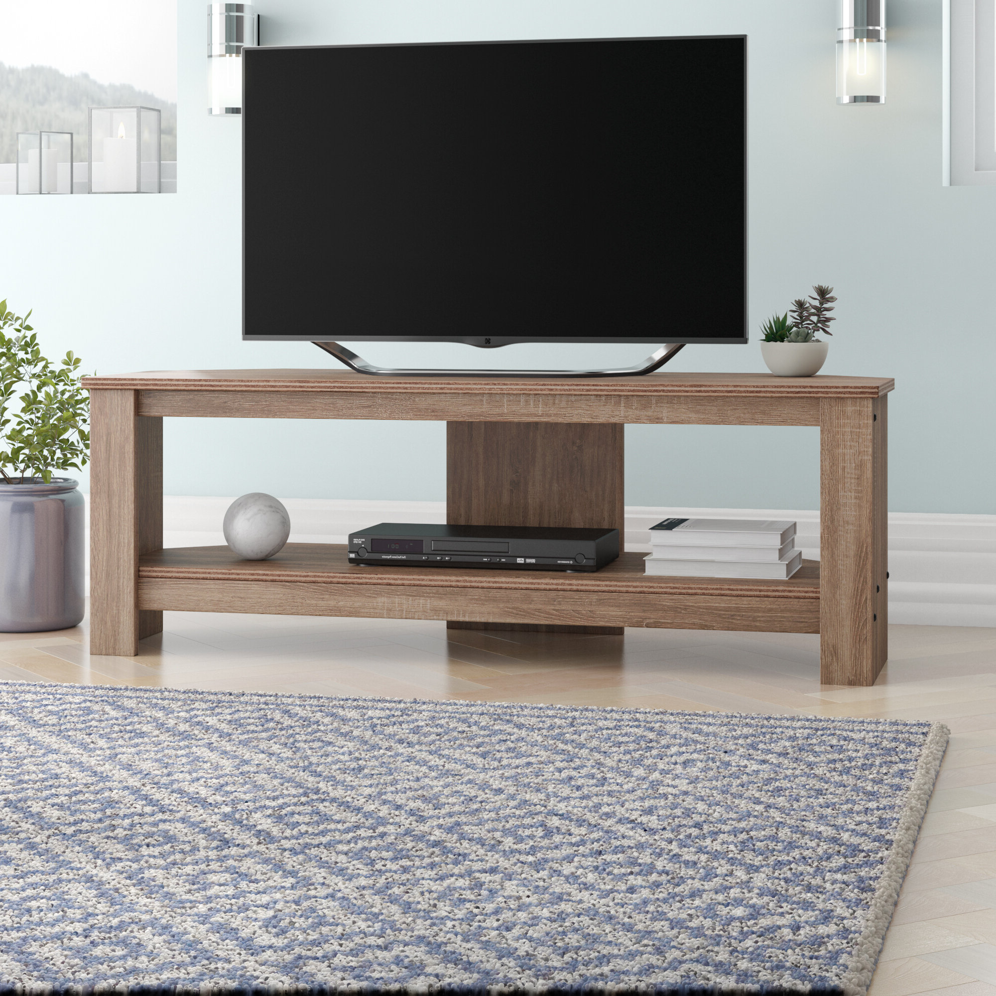 Corner Tv Stands For 46 Inch Flat Screen With Regard To 2018 Corner Tv Stands You'll Love (Gallery 17 of 20)