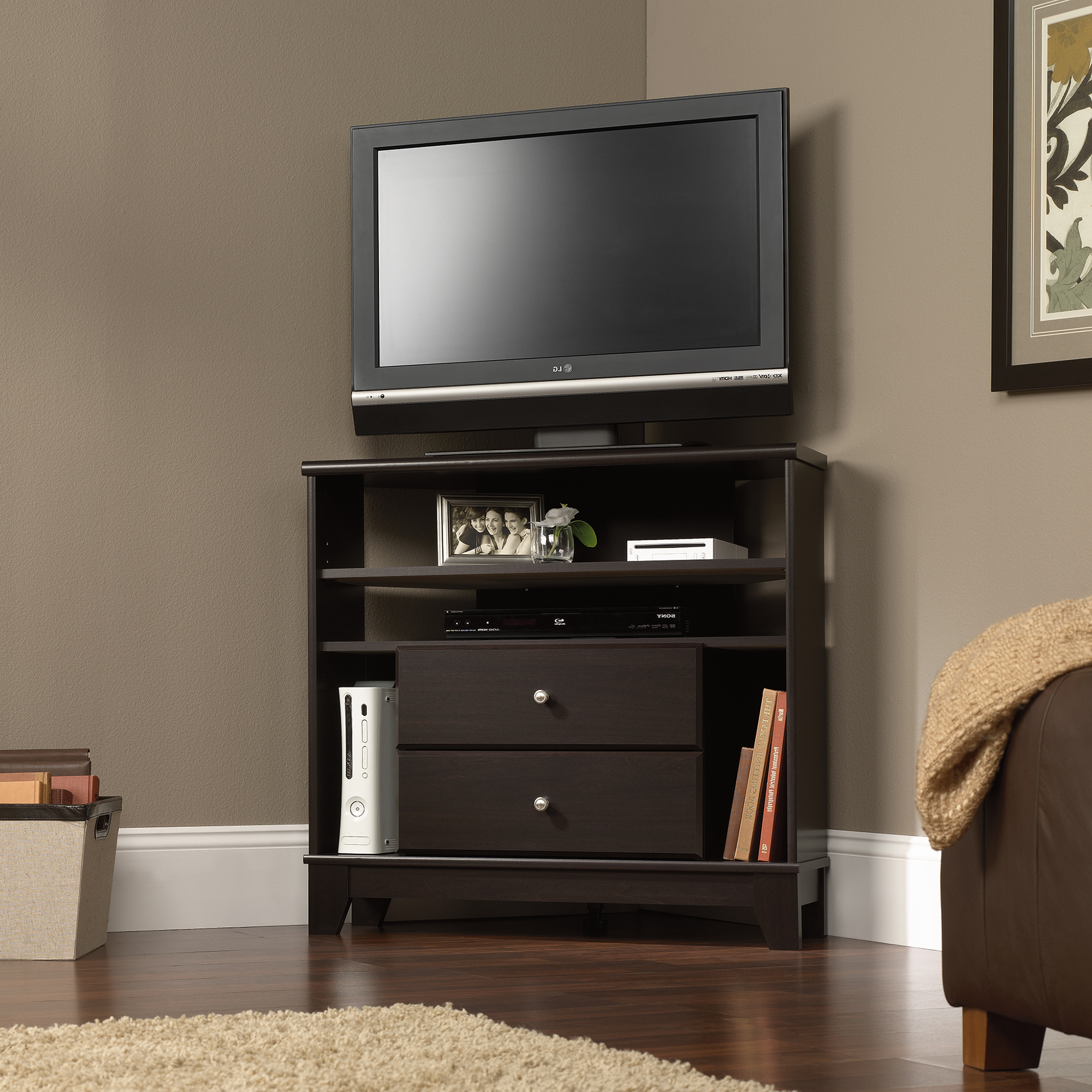 Corner Tv Stands With Drawers Inside Most Current Best Buy Whalen Tv Stand Small 55 Inch With Drawers Bed Bath And (Gallery 6 of 20)