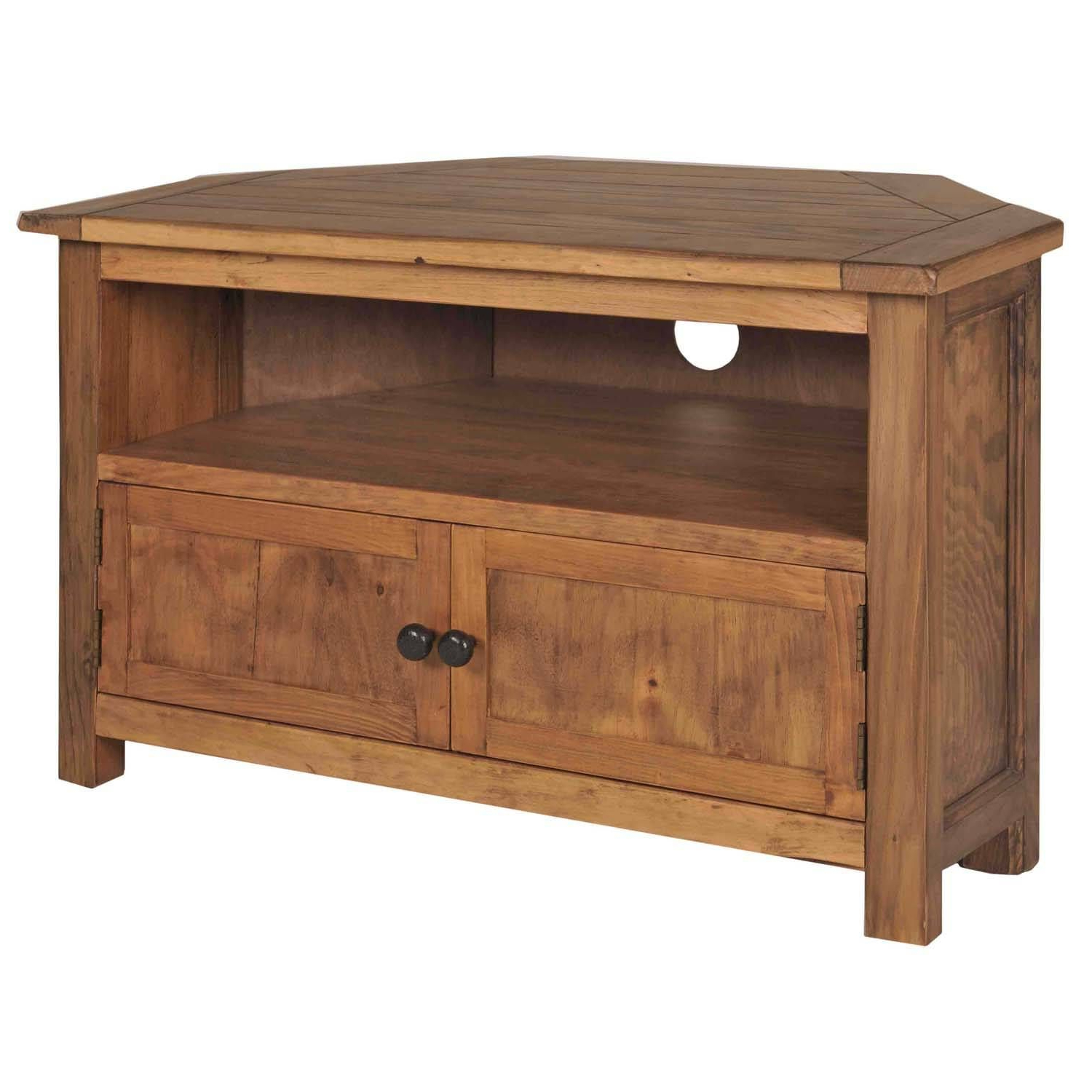 Corner Tv Stands, Wood With Regard To Popular Pine Tv Cabinets (View 5 of 20)