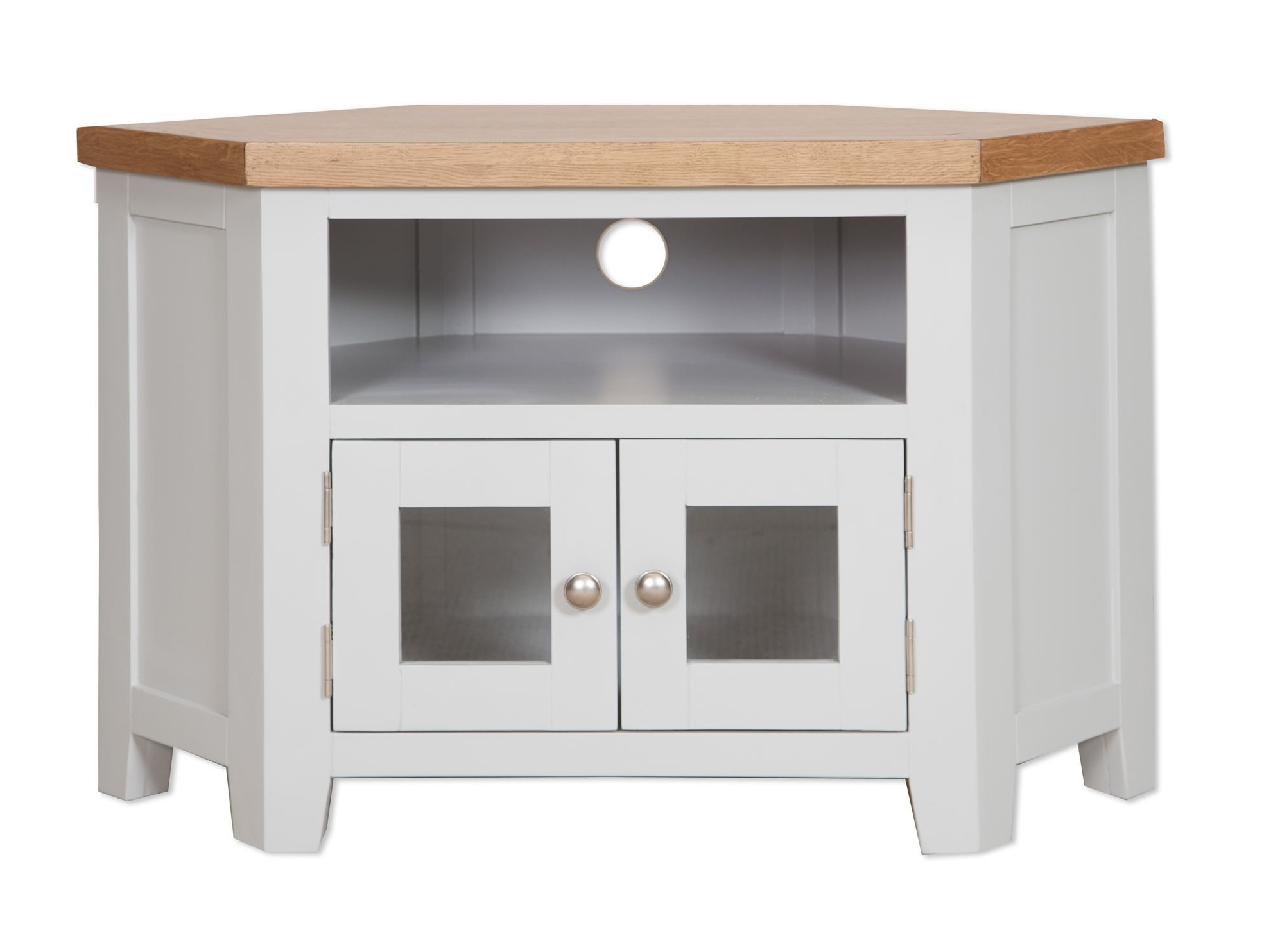 Corner Tv Units Pertaining To Famous French Grey Glazed Corner Tv Unit – Cambridge Home & Garden (Gallery 9 of 20)