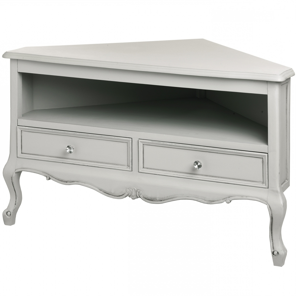 Corner Tv Units Pertaining To Most Recently Released Fleur Shabby Chic Corner Tv Cabinet (View 11 of 20)