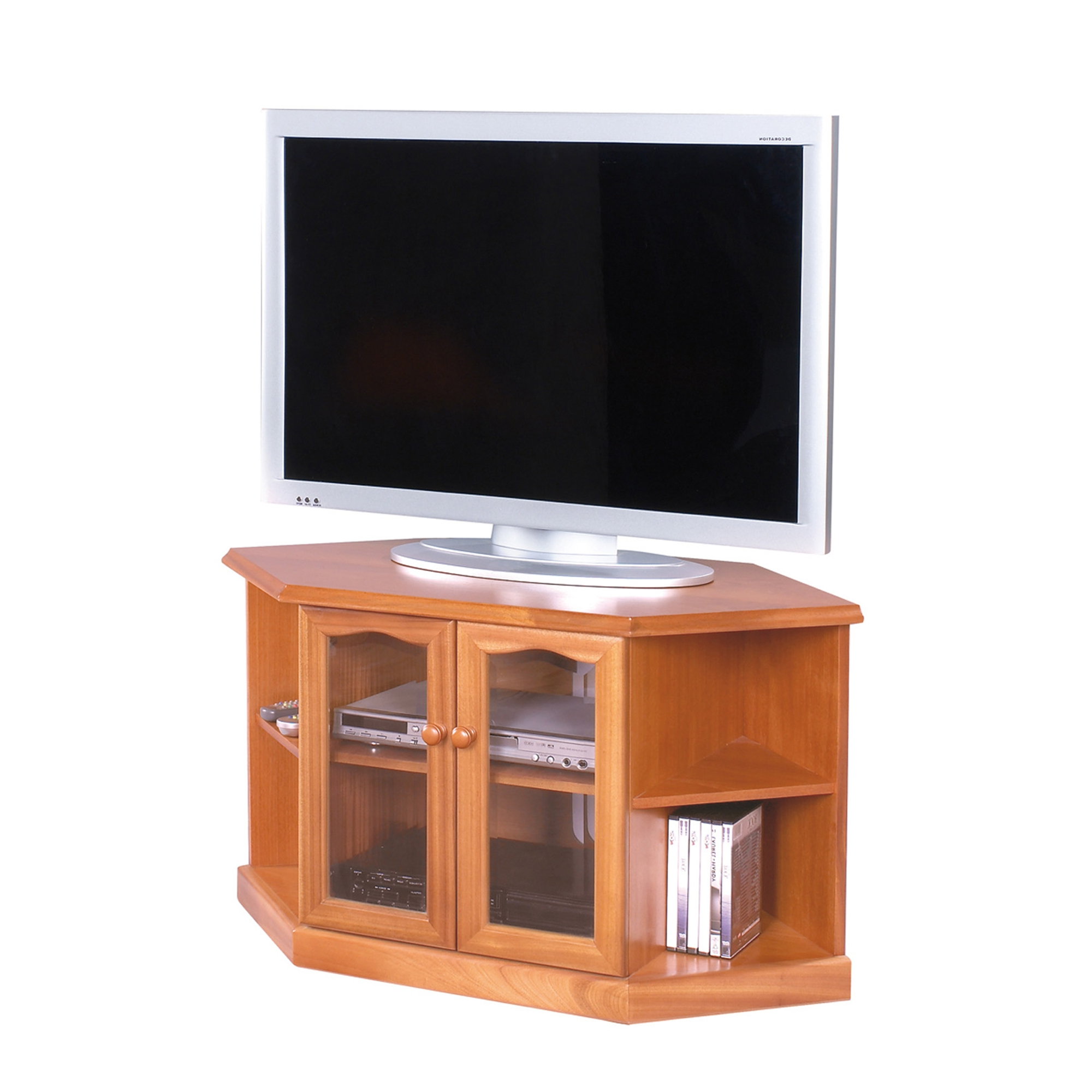 Corner Tv Units Within Most Recently Released Sutcliffe Trafalgar Teak Corner Tv Unit – Sutcliffe – Cookes Furniture (View 19 of 20)