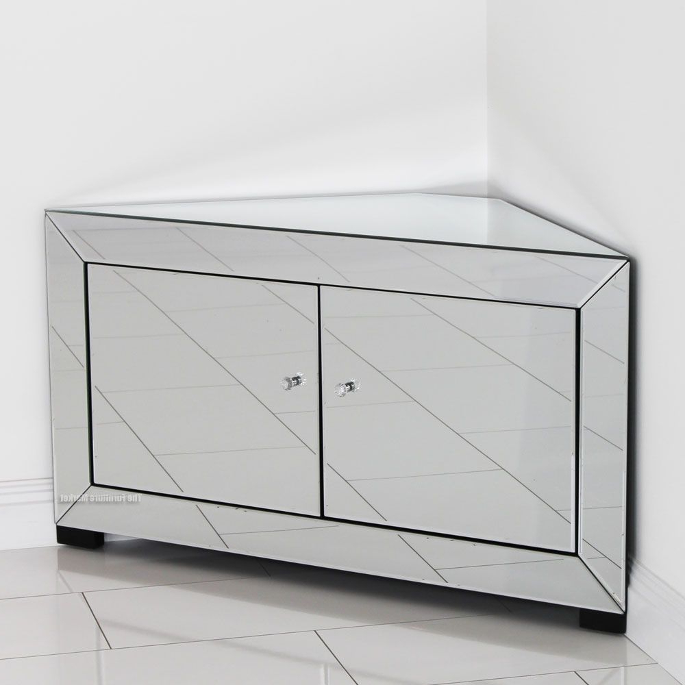 Corner Tv With Most Up To Date Mirrored Tv Cabinets Furniture (View 6 of 20)