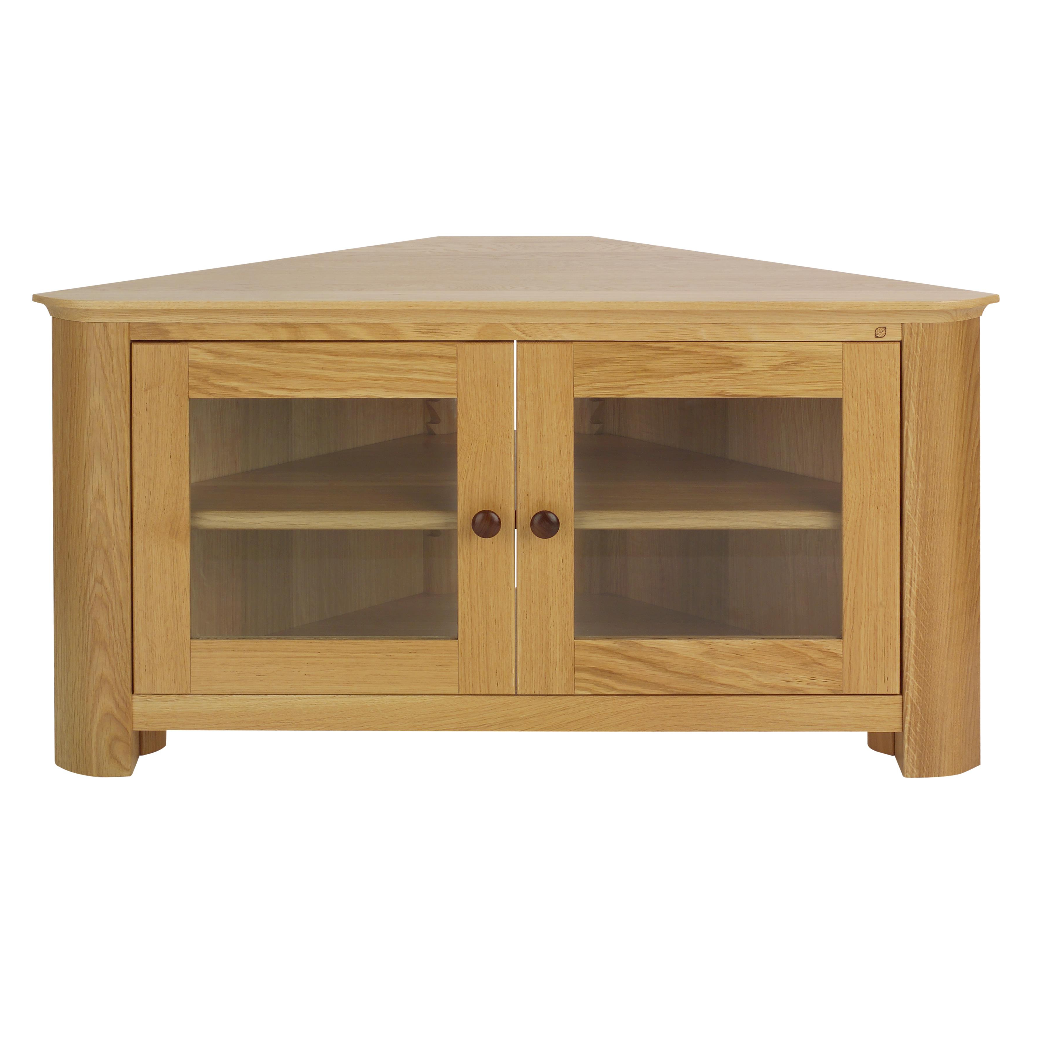 Corner Wooden Tv Cabinets With Regard To Well Liked Medium Oak Tv Stand Or Corner With Plus Cabinet Together Stands Flat (View 8 of 20)