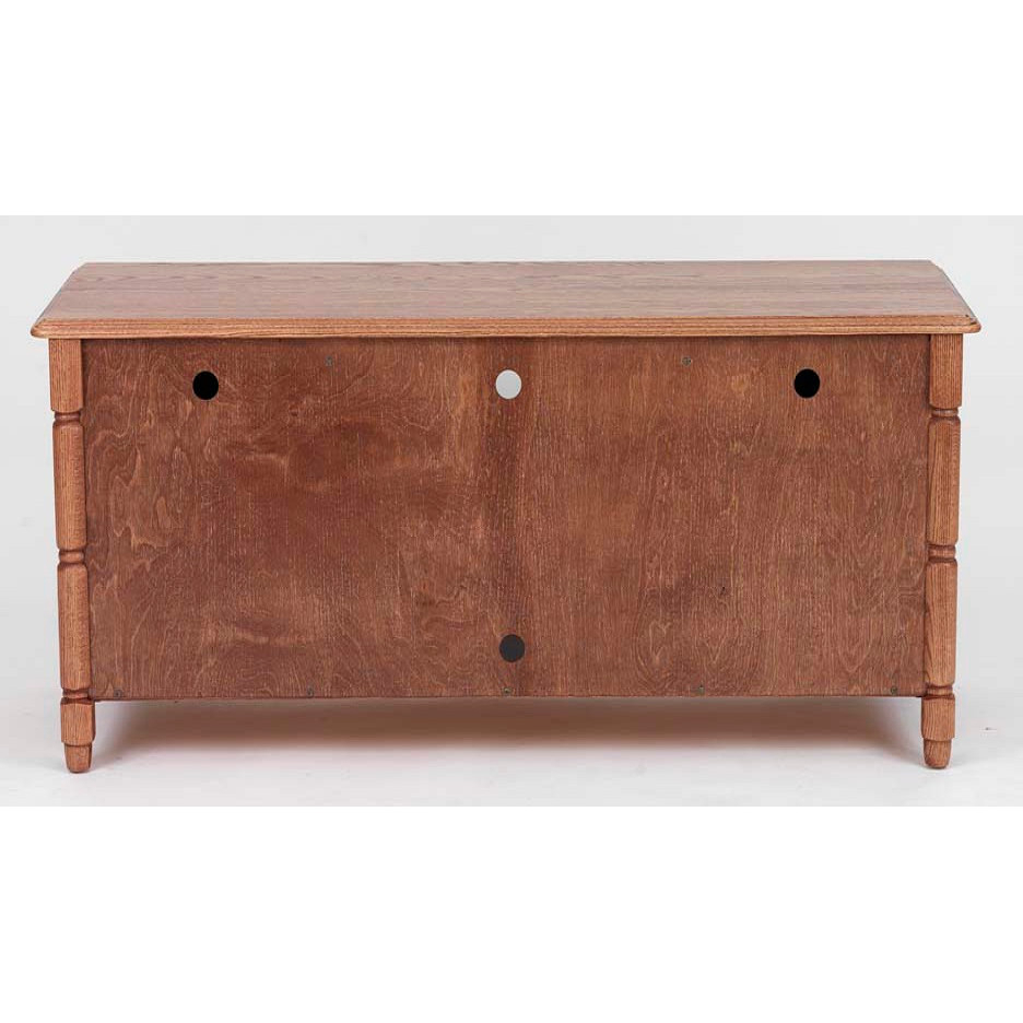 "Country Style Tv Stands For Fashionable Country Style Solid Oak Tv Stand W/cabinet – 51"" – The Oak Furniture (Gallery 17 of 20)"