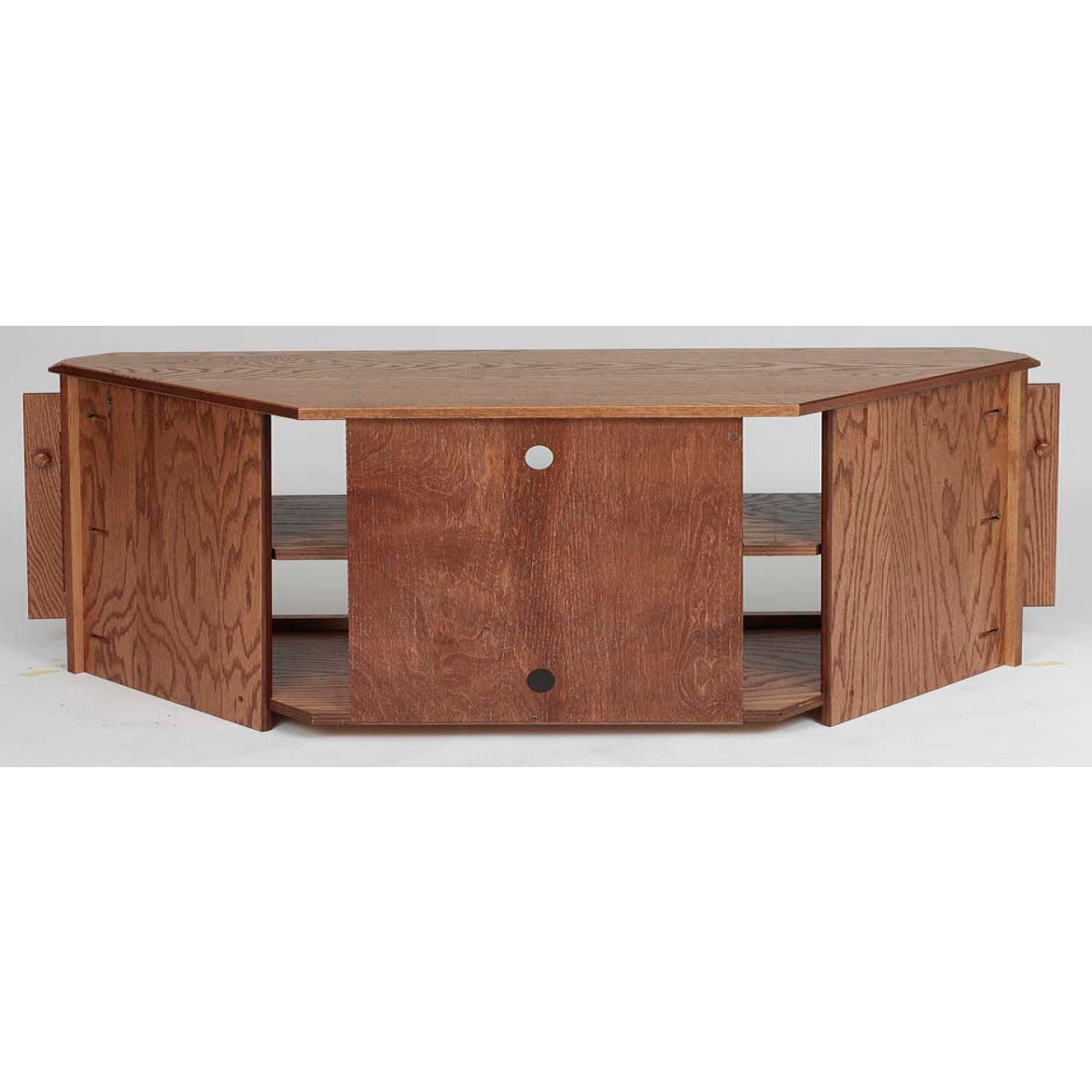 "Country Style Tv Stands Pertaining To Best And Newest Solid Oak Country Style Corner Tv Stand W/cabinet – 64"" – The Oak (View 9 of 20)"