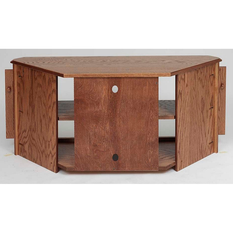 """Country Style Tv Stands With Most Recent Solid Oak Country Style Corner Tall Tv Stand W/cabinet – 55"""" – The (Gallery 13 of 20)"""