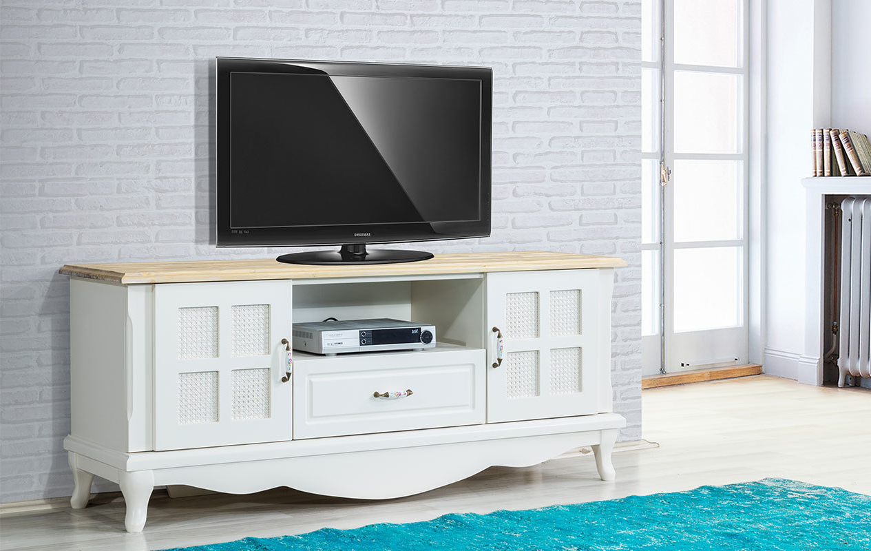 Country Tv Stand Chic Cottage Cabinet Better Homes Rustic White Within Popular French Country Tv Stands (View 1 of 20)