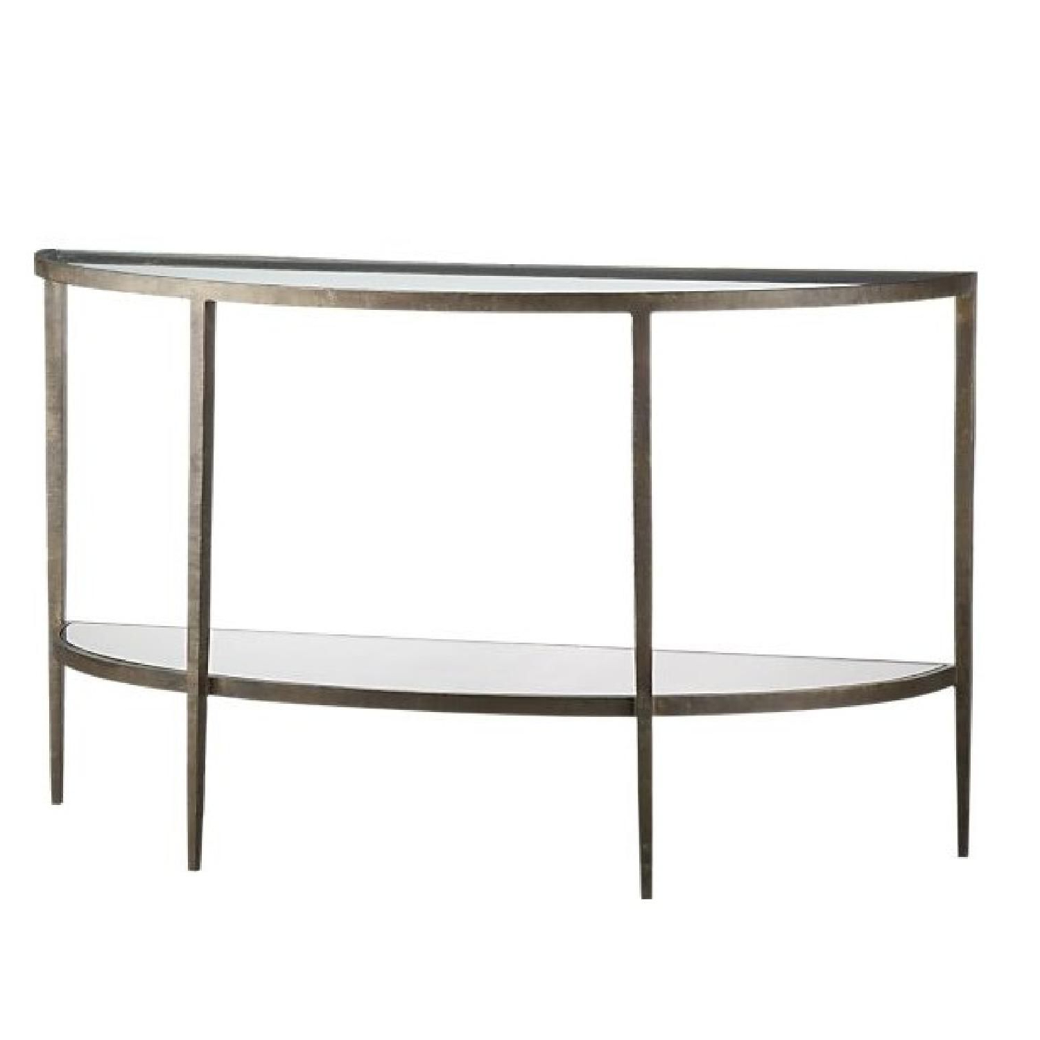 Crate & Barrel Clairemont Demilune Console Table (Gallery 1 of 20)