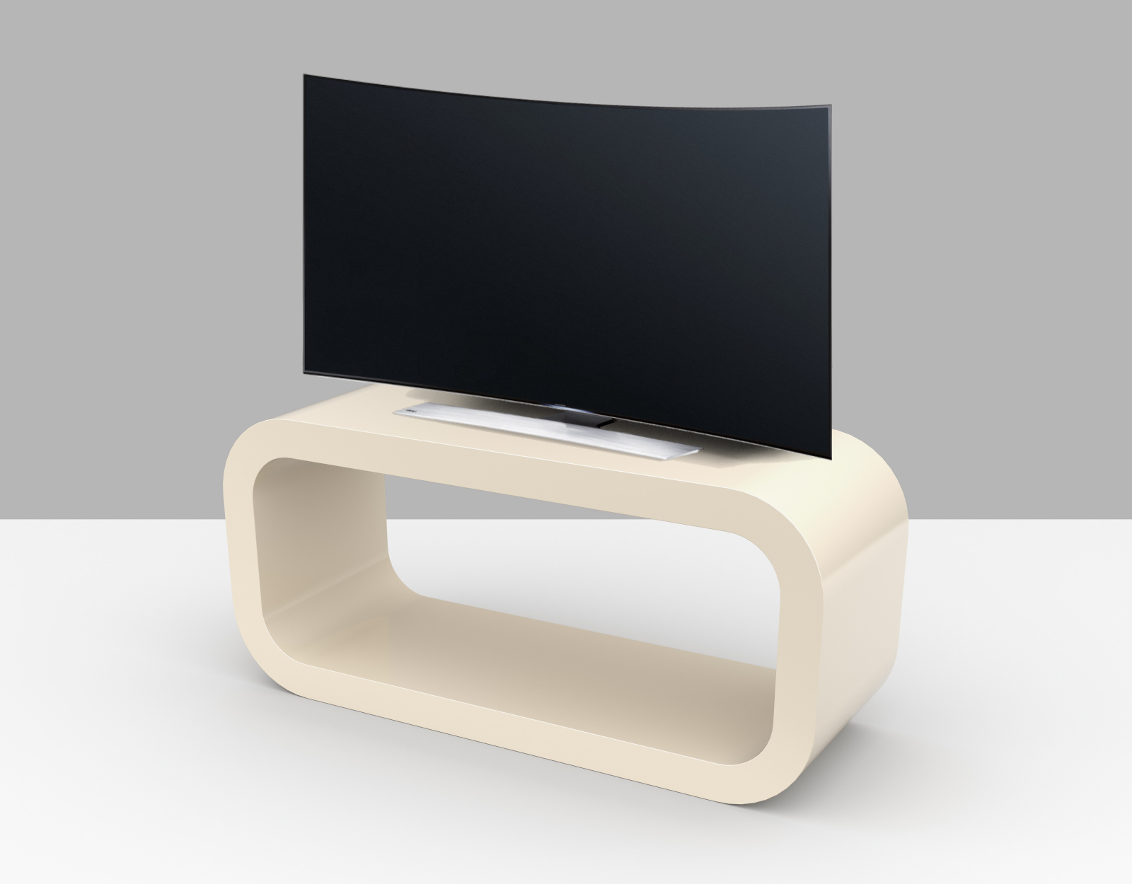 Cream Gloss Tv Stands With Regard To 2018 Cream Gloss Tv Stand – Hooptangle – Zespoke (View 6 of 20)