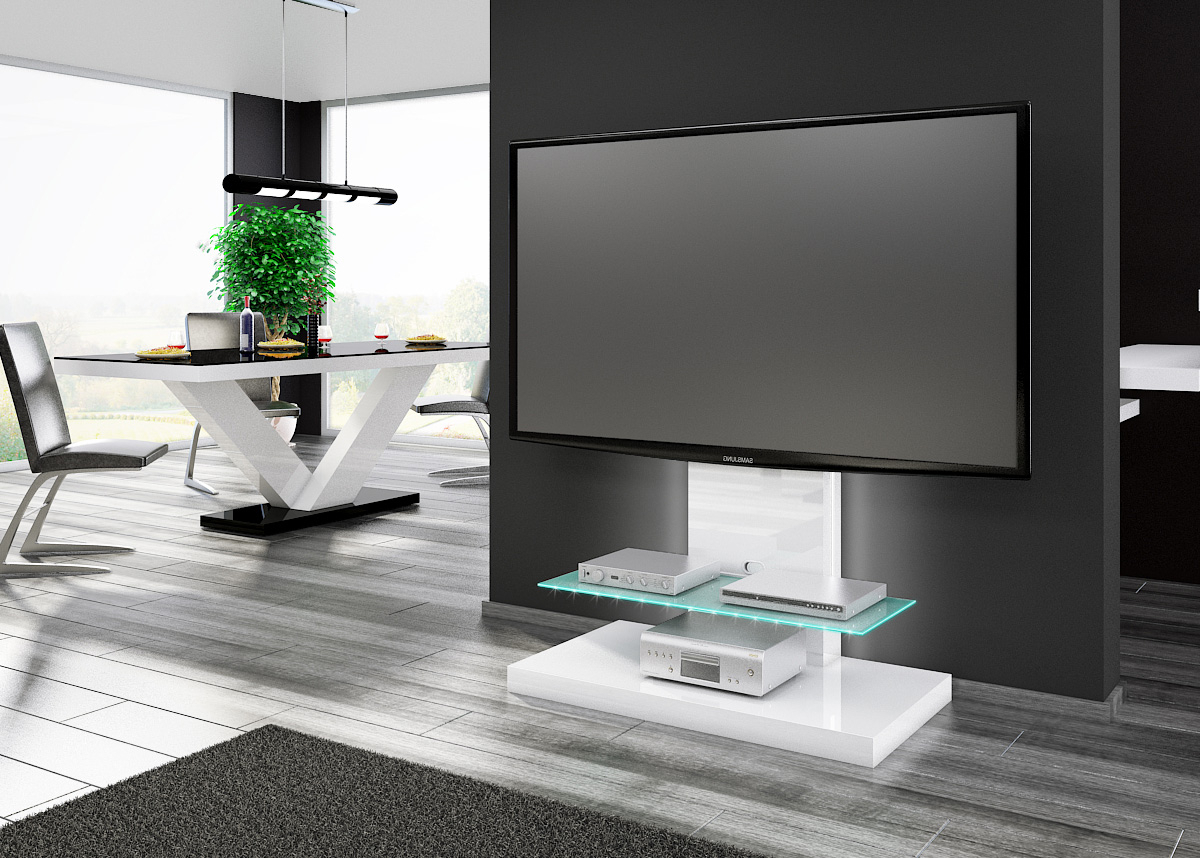 Cream High Gloss Tv Cabinets In Well Known Tv Stands (View 3 of 20)