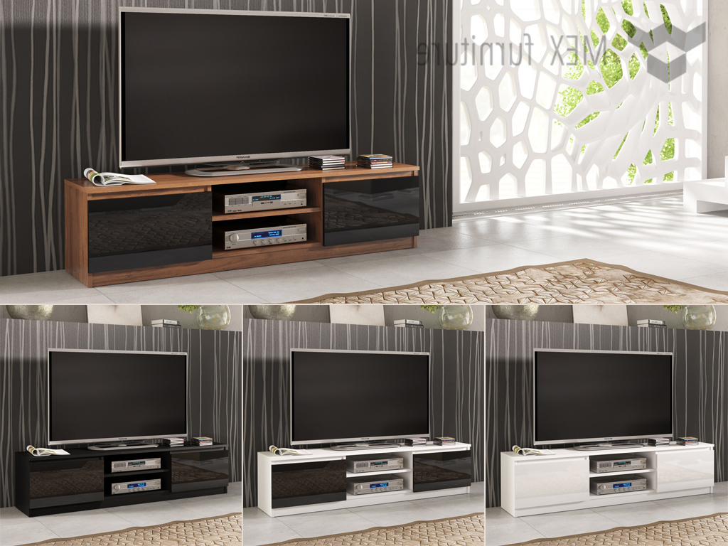 Cream High Gloss Tv Cabinets Intended For Recent High Gloss Tv Cabinets, Unit – Mex Furniture (View 4 of 20)