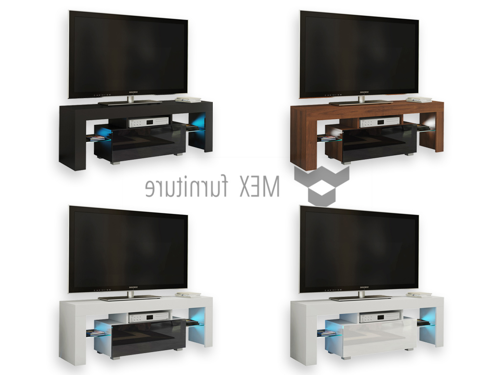 Cream High Gloss Tv Cabinets Within Current High Gloss Tv Cabinets, Unit – Mex Furniture (Gallery 5 of 20)