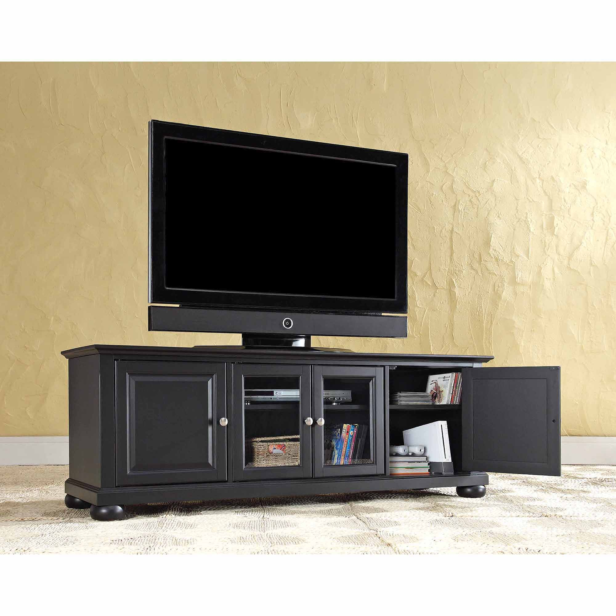 Crosley Furniture Alexandria Low Profile Tv Stand For Tvs Up To 60 In Current Long Black Tv Stands (Gallery 19 of 20)