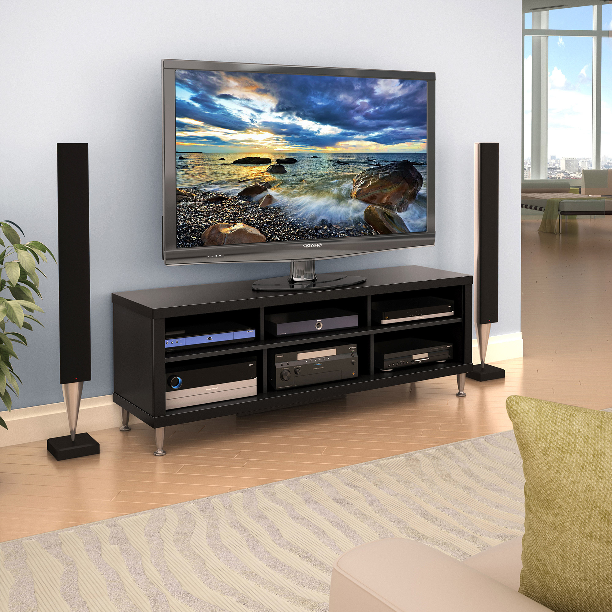 Current 61 Inch Tv Stands With Tv And Stereo Stands Component Tier One Designs 61 Stand Walmartcom (View 10 of 20)