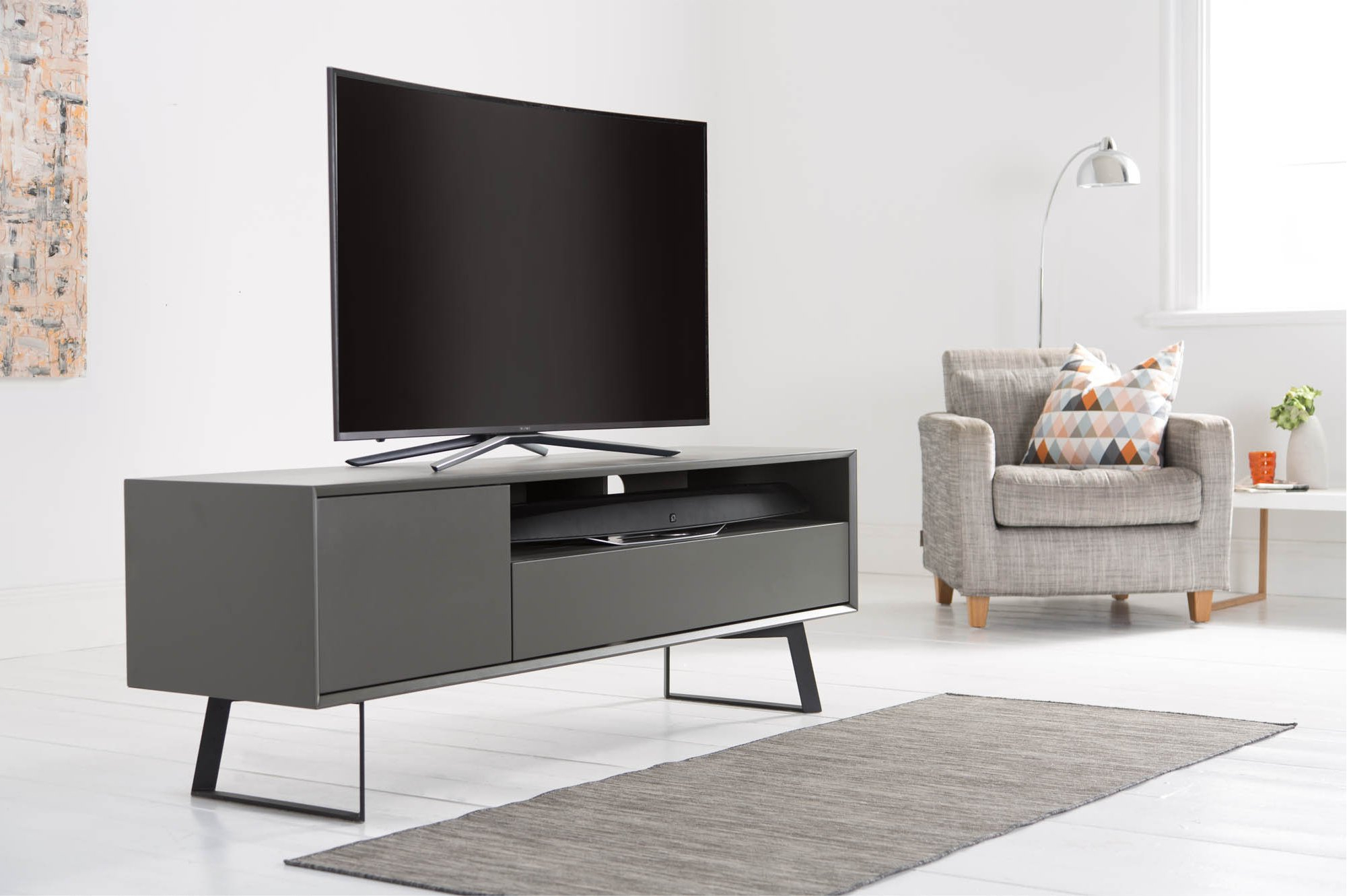 Current Alphason Adca1600 Gry Tv Stands In Grey Tv Stands (View 2 of 20)