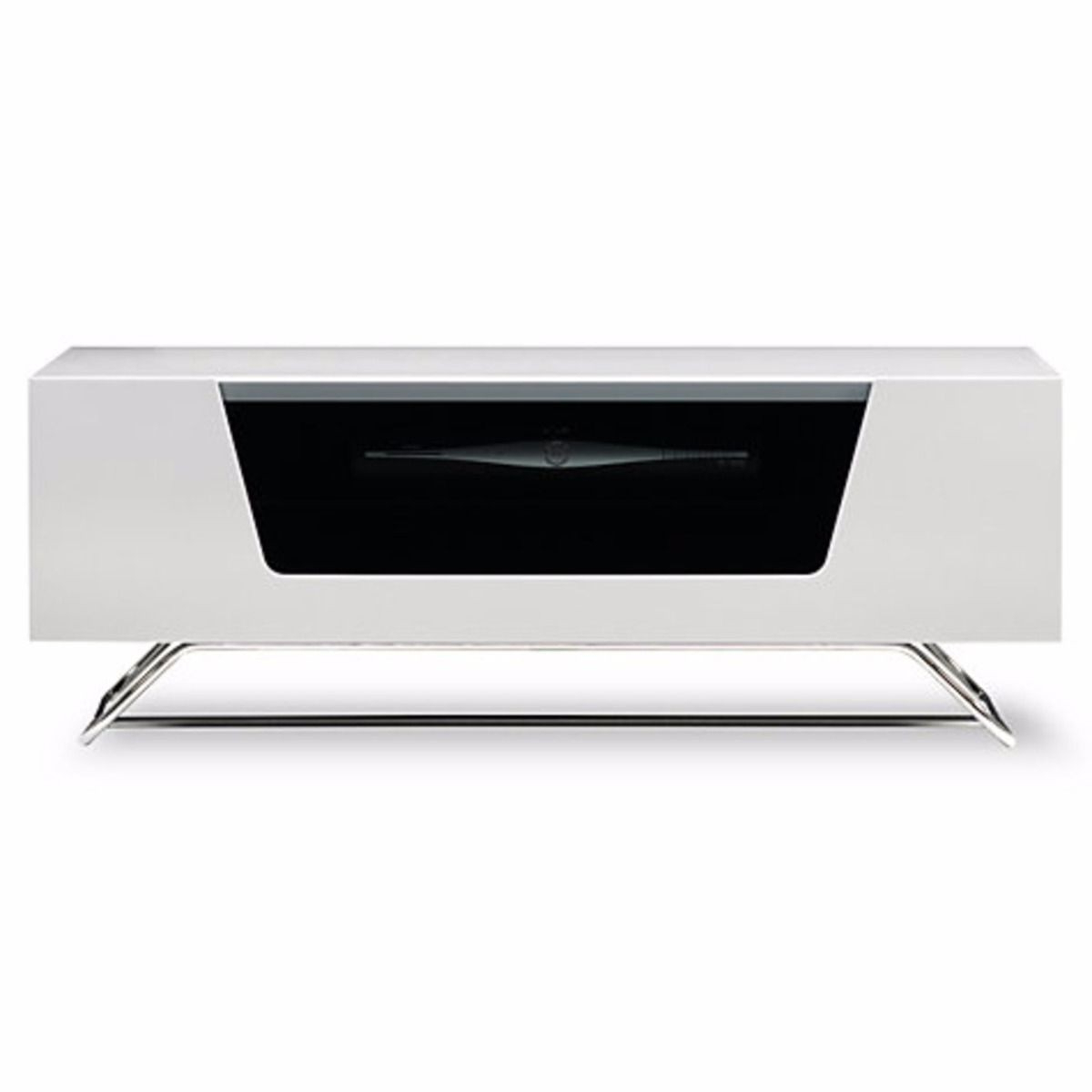 Current Alphason Chromium 2 Tv Stand Cro2 1000Cb Wht White Gloss Tv Cabinet Intended For High Gloss White Tv Cabinets (View 20 of 20)