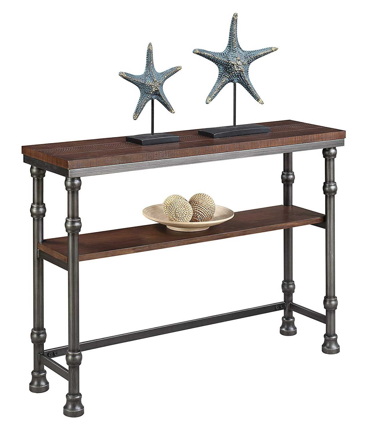 Current Amazon: Convenience Concepts 171199 Console Table: Kitchen & Dining Intended For Yukon Grey Console Tables (Gallery 5 of 20)