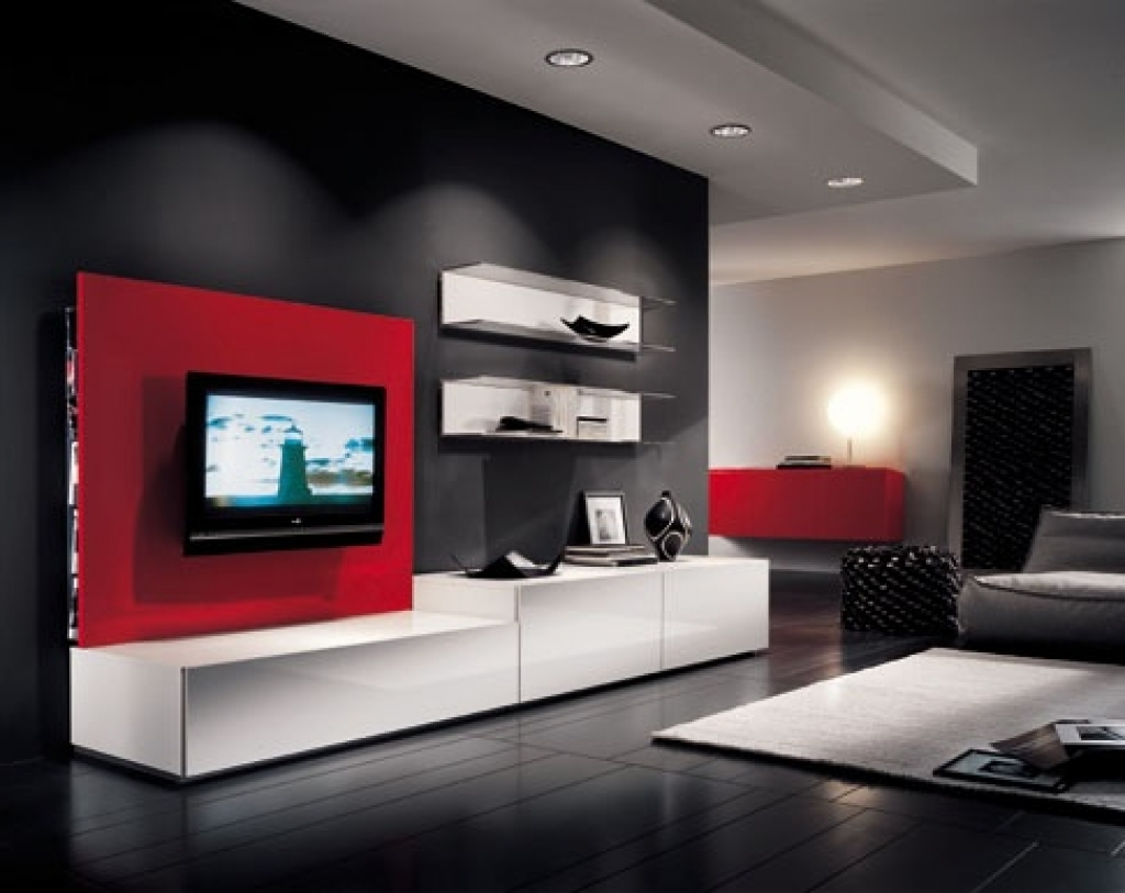 Current Black And Red Tv Stands For Extraordinary Inch Tv Wall Mount Full Motion Pics Decoration Ideas (View 11 of 20)