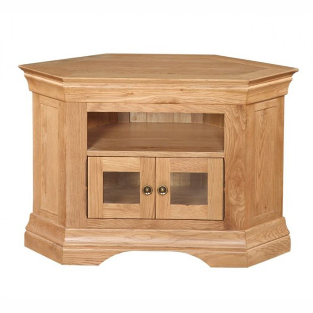 Current Breton Solid Oak Corner Tv Cabinet (View 3 of 20)