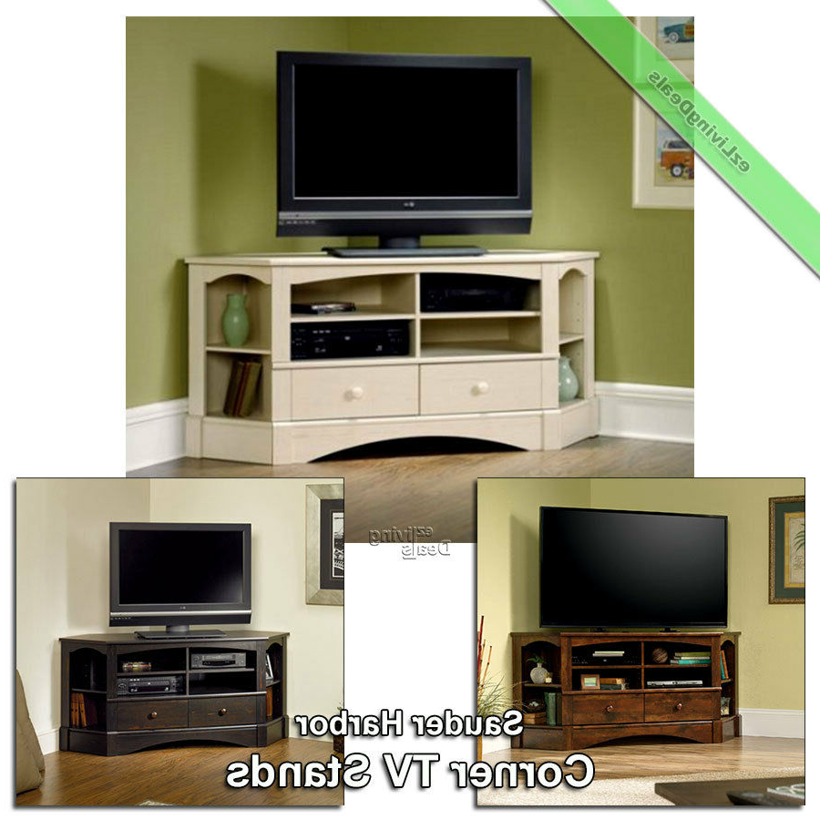 "Current Corner Tv Stands For 60 Inch Flat Screens With Regard To Corner Tv Stand Wood 60"" Console Table Sauder Credenza Stands For (View 11 of 20)"