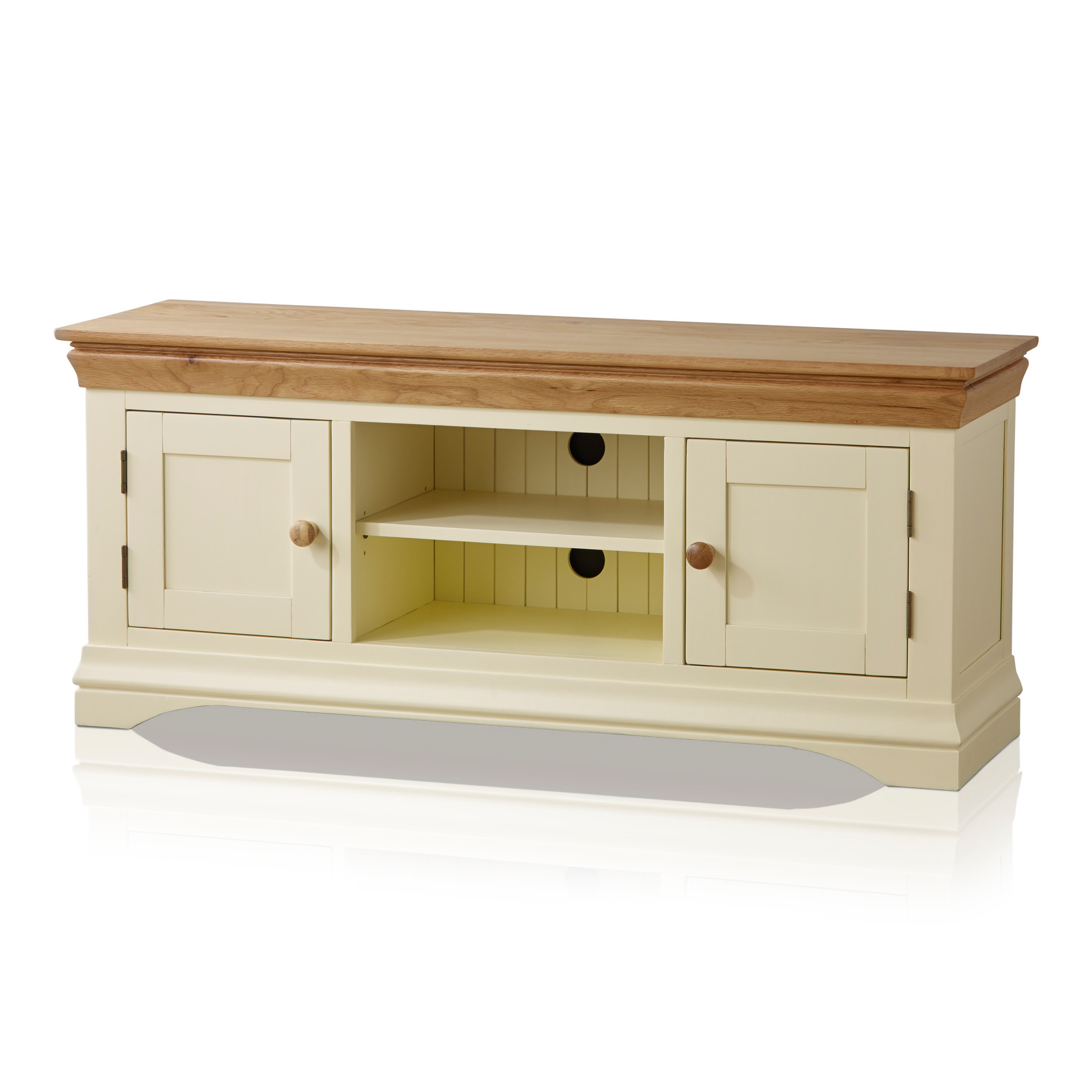Current Country Cottage Cream Painted Tv Cabinet Within Cream Tv Cabinets (View 20 of 20)