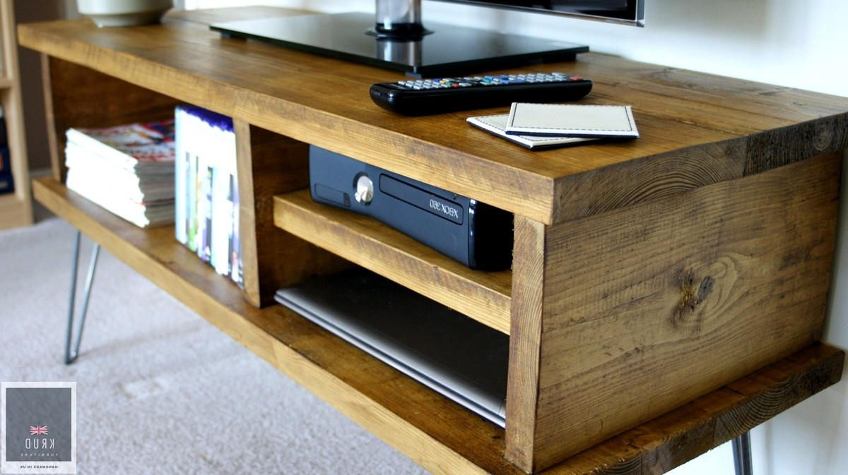 Current Country Tv Stands With Krud~vintage Tv Stand With Hairpin Legs~handmade~solid Wood~scaffold (View 16 of 20)