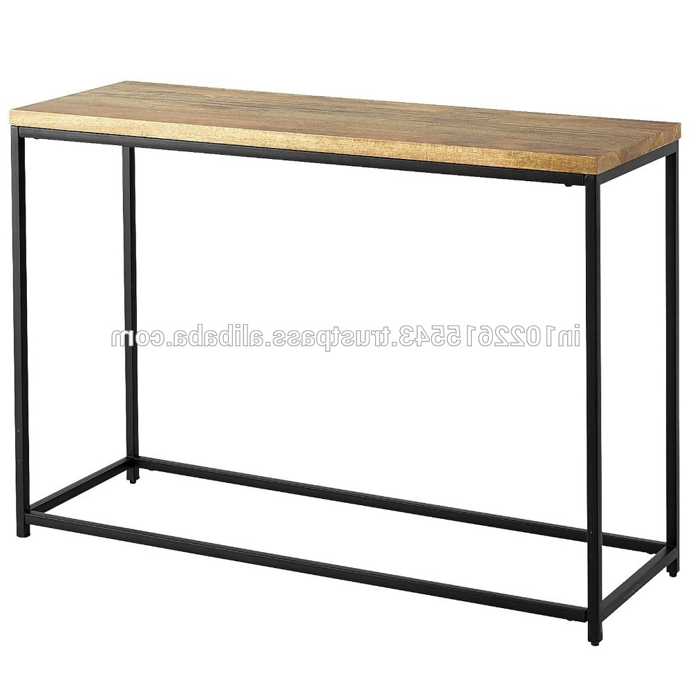 Current Frame Console Tables Pertaining To Industrial Acacia Wood Classic Console Table,antique Iron Frame Wood (Gallery 19 of 20)