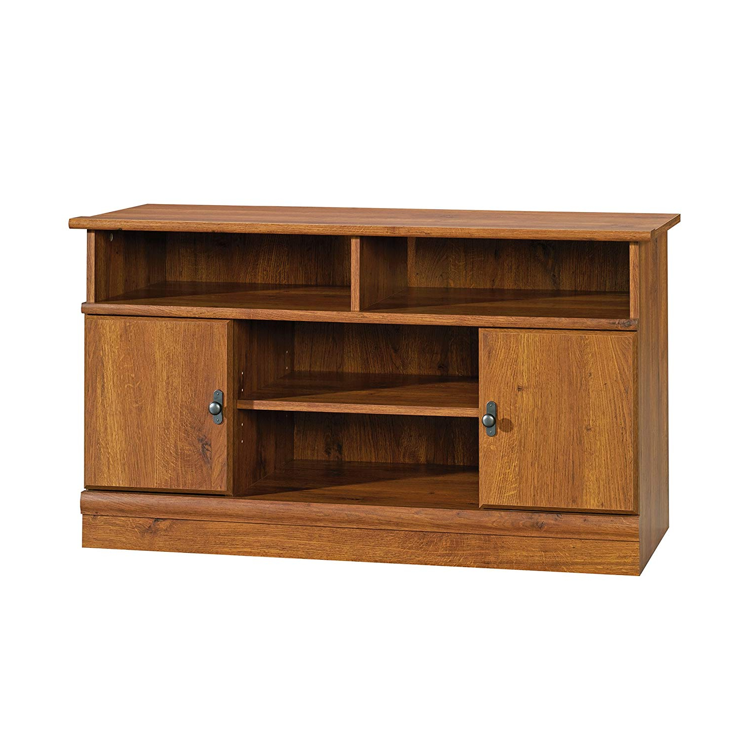 Current Honey Oak Tv Stands Regarding Amazon: Sauder 407432 Harvest Mill Panel Tv Stand, For Tv's Up (View 5 of 20)