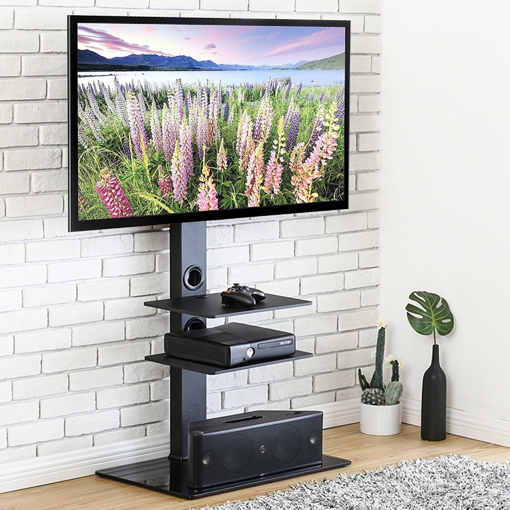 Current Hot Sale Fitueyes Swivel Tv Stand With Mount For 32 65 Inch Flat Pertaining To Swivel Tv Stands With Mount (Gallery 17 of 20)