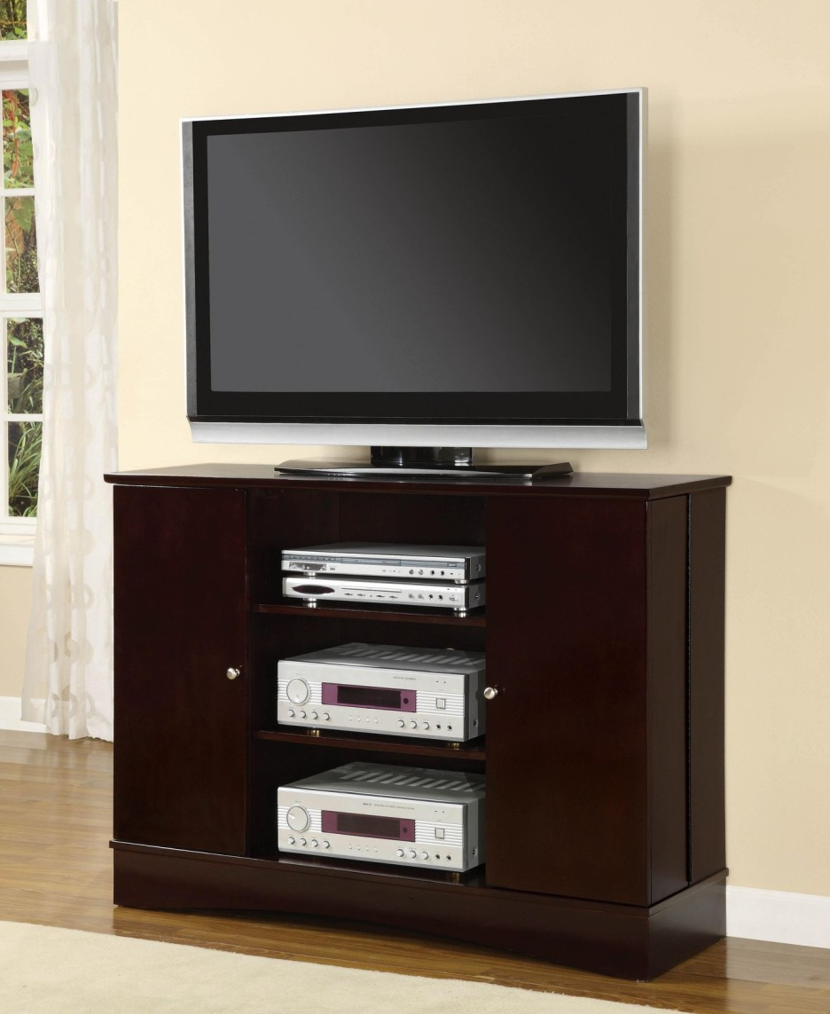 Current Light Cherry Tv Stands With Regard To Cherry Wood: Dark Cherry Wood Tv Stand (View 3 of 20)