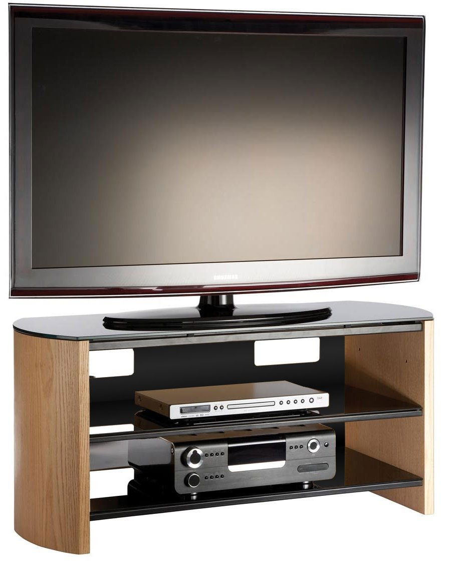 Current Oak Veneer Tv Stands For Alphason Fw1100 Lo/b Tv Stands (View 19 of 20)