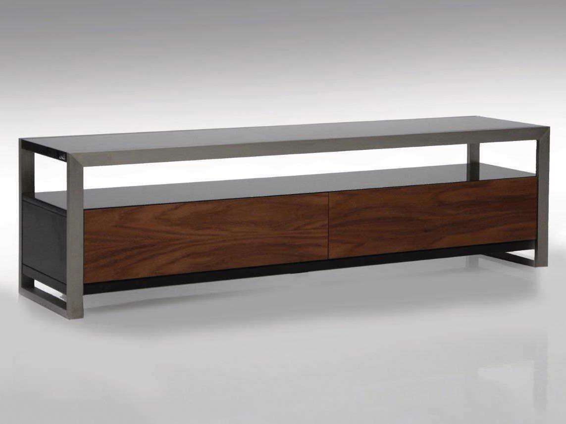 Current Rectangular Tv Stands With Regard To Mobital Brando 63 X 16 Rectangular Black/walnut Tv Stand (View 3 of 20)