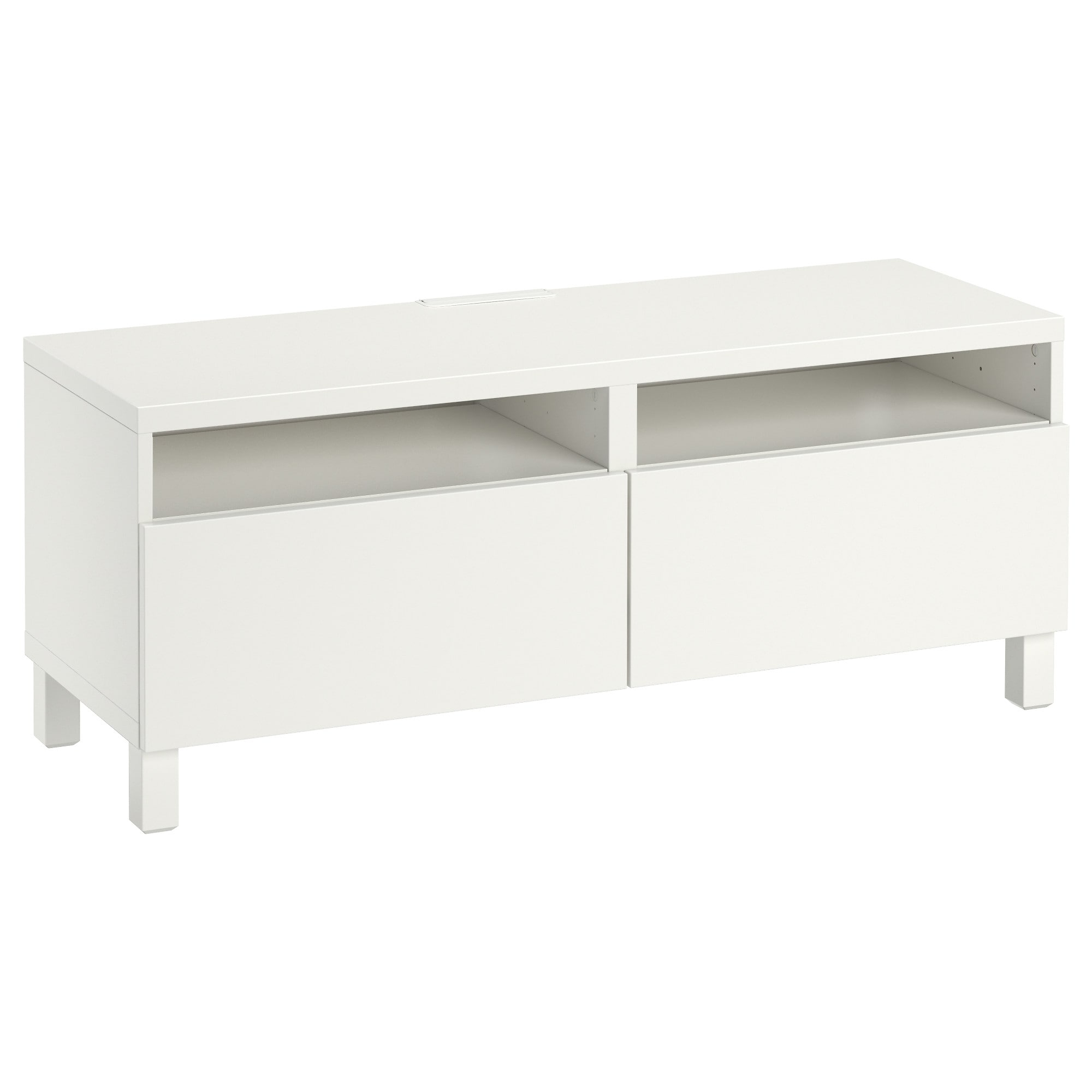 Current Small White Tv Cabinets Throughout Bestå Tv Unit With Drawers – Lappviken White, Drawer Runner, Push (View 1 of 20)