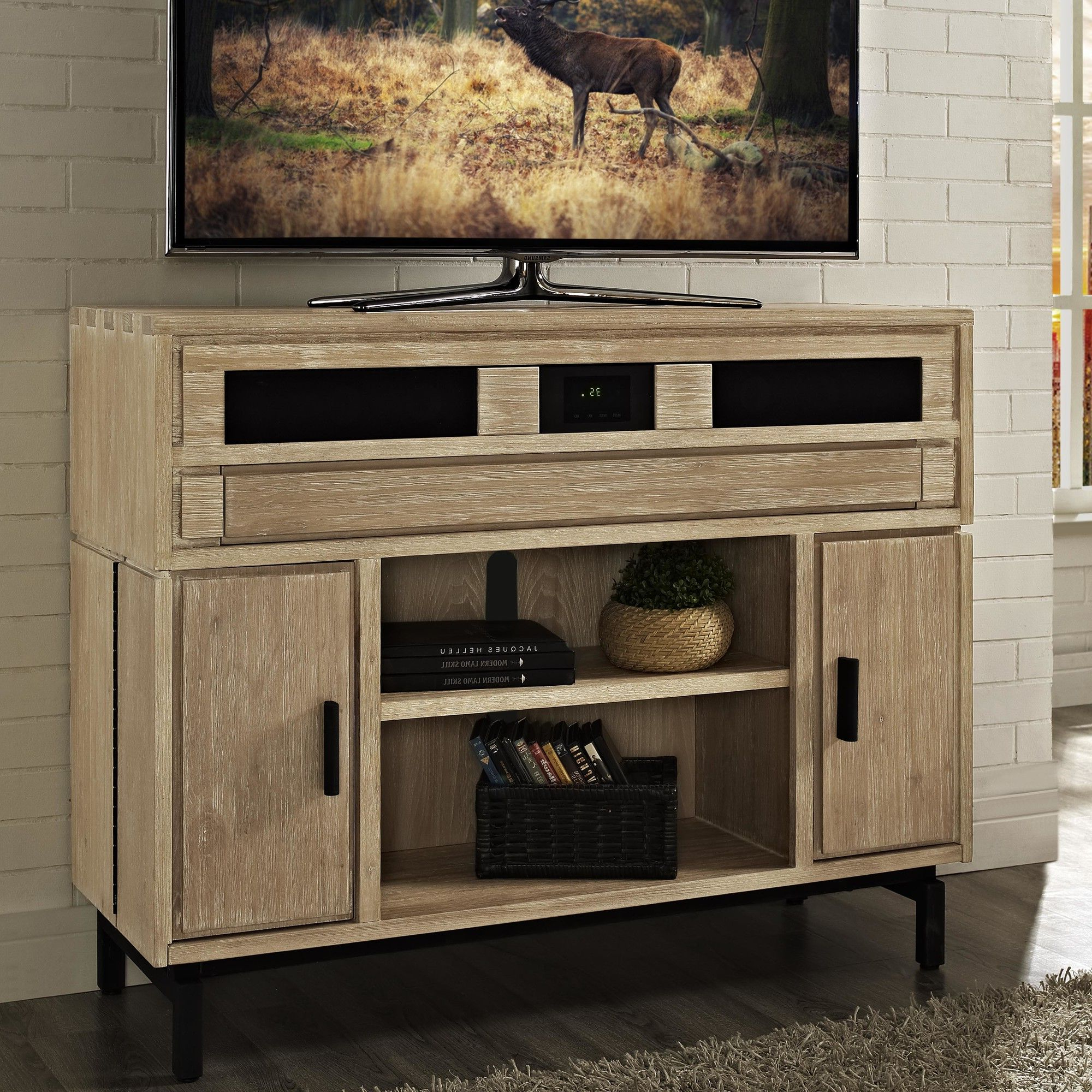 "Current Soho 48"" Deluxe Tv Stand With Built In Surround Sound (Gallery 8 of 20)"