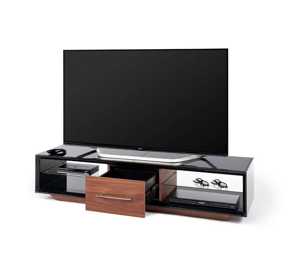Current Techlink Arena Tv Stands With Regard To Techlink Arena Aa150Bw Tv Stand High Gloss Black Carcass With A (Gallery 10 of 20)