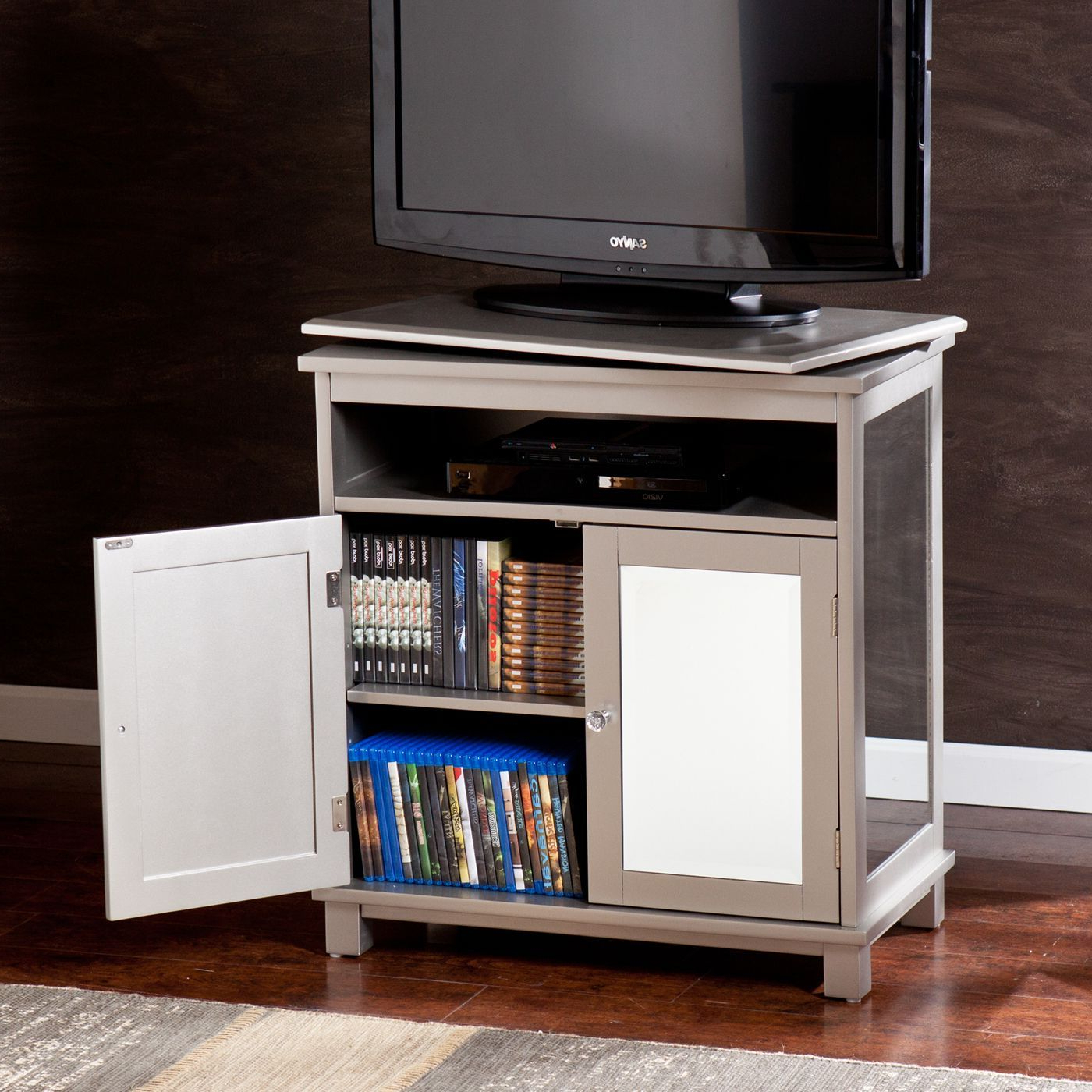 Current Turntable Tv Stands Throughout Corner Tv Stand Turntable Swivel Base Ikea Sanus Vuepoint Top (View 8 of 20)